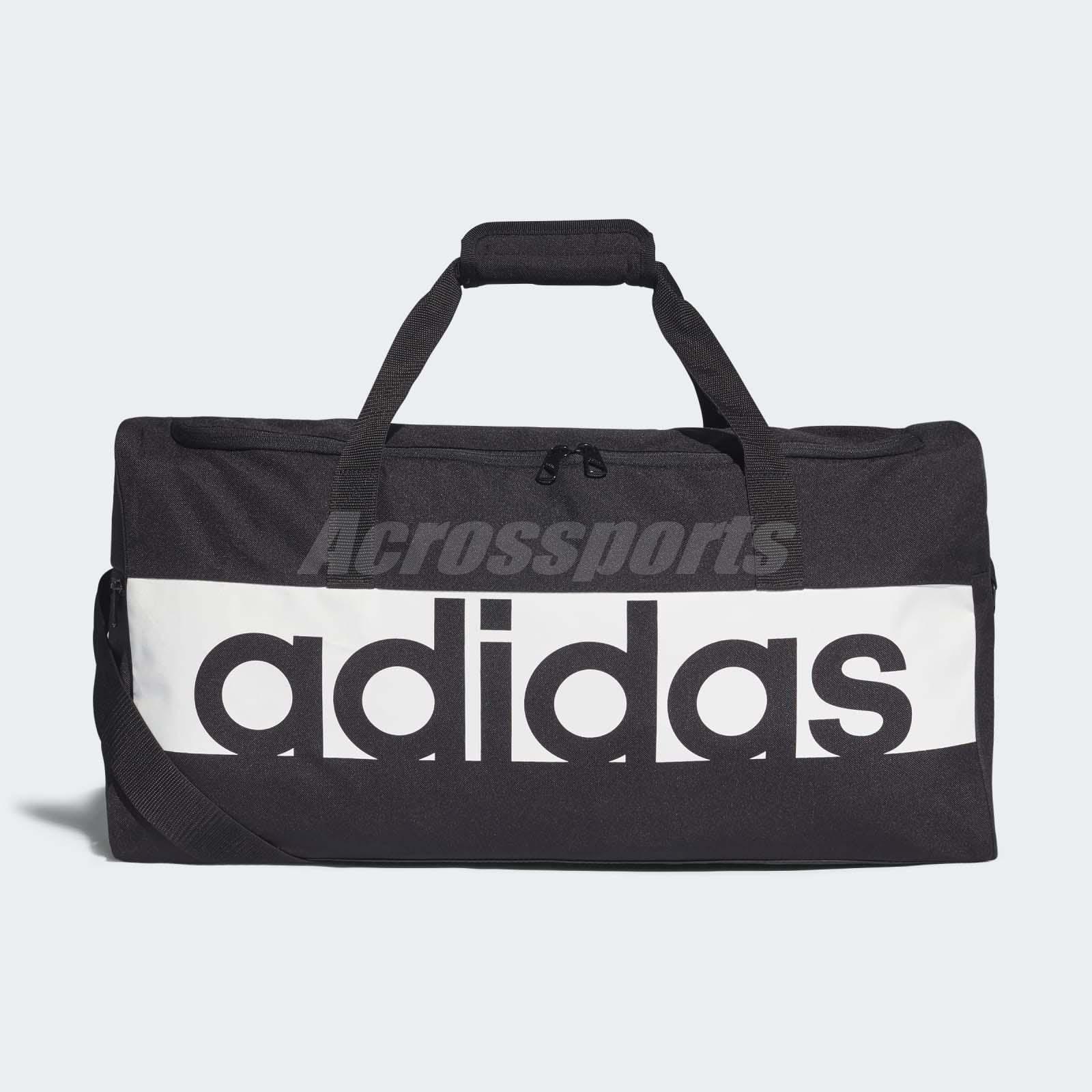 46d4f5cddcb0 adidas Linear Performance Duffel Bag Medium Training Workout Sports Black  S99959