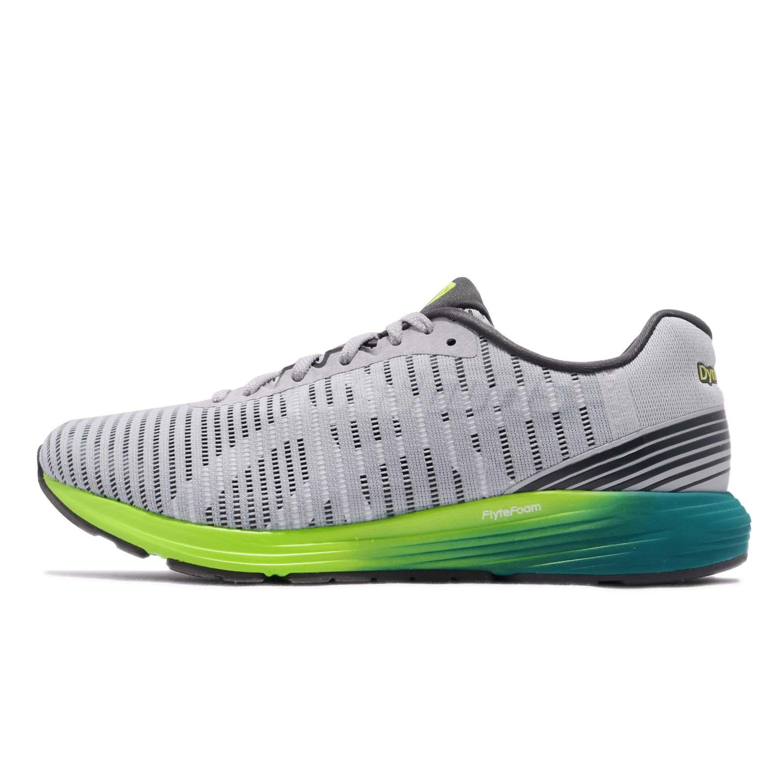 7cceba37ff Asics Dynaflyte 3 Grey Black Green Men Running Shoes Sneakers 1011A002-021