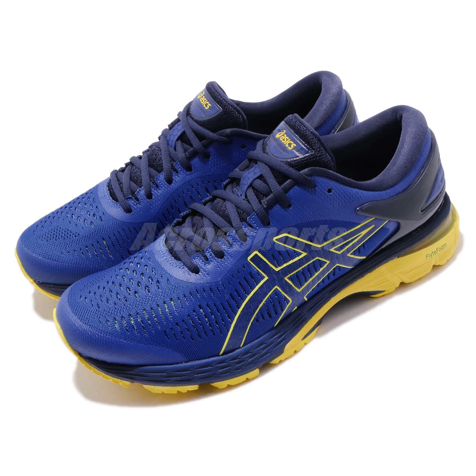 última colección la compra auténtico disfruta del precio inferior Asics Gel Kayano 25 Blue Lemon Spark Men Running Shoes Sneakers ...