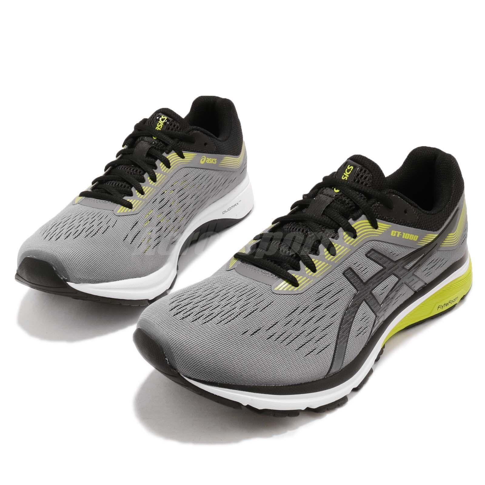 Détails sur Asics GT 1000 7 4E Extra Wide Carbon Black Men Running Shoe Sneaker 1011A041 021