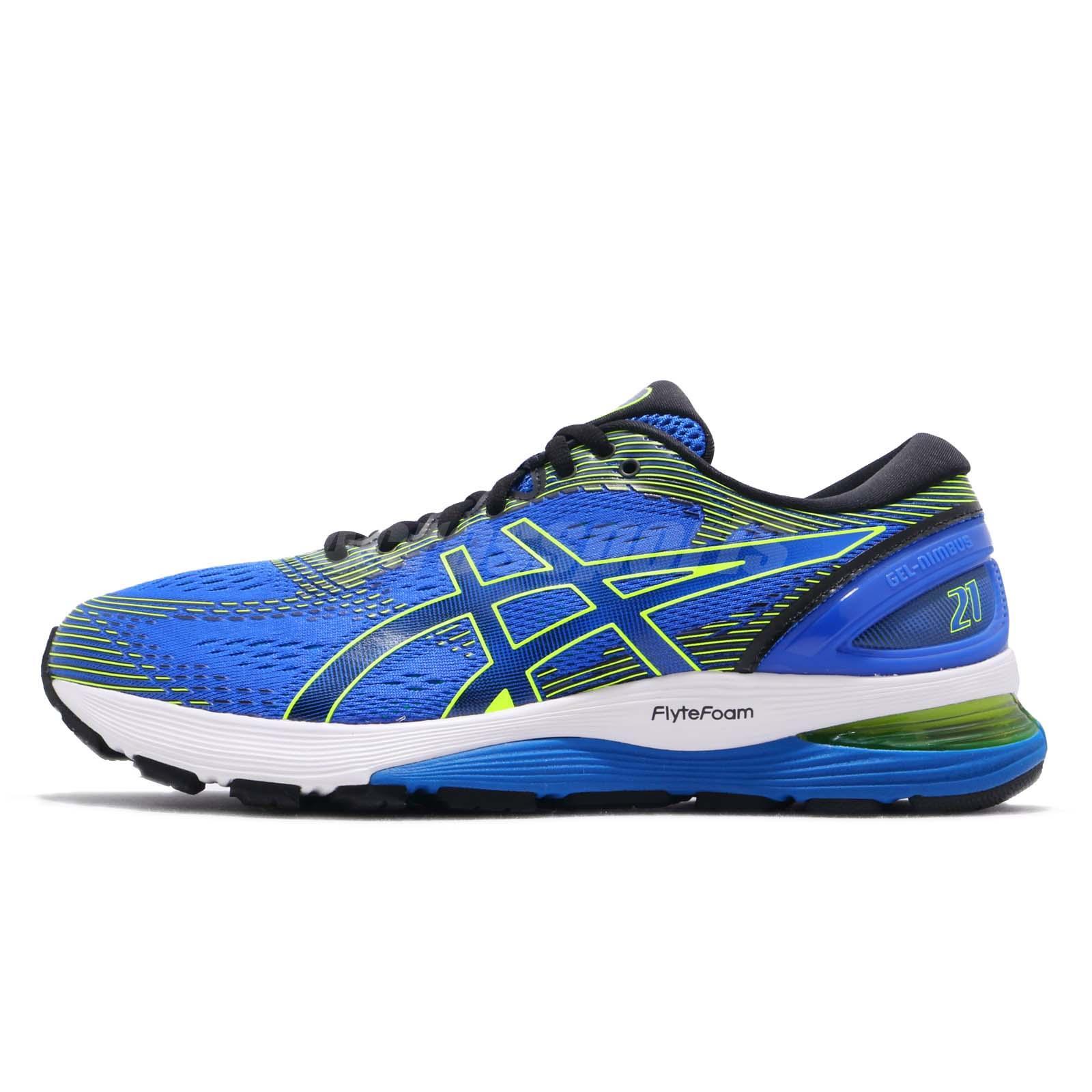 verdad siga adelante fuerte  Asics Gel Nimbus 21 4E Extra Wide Blue Black White Men Running Shoe  1011A168-400 | eBay