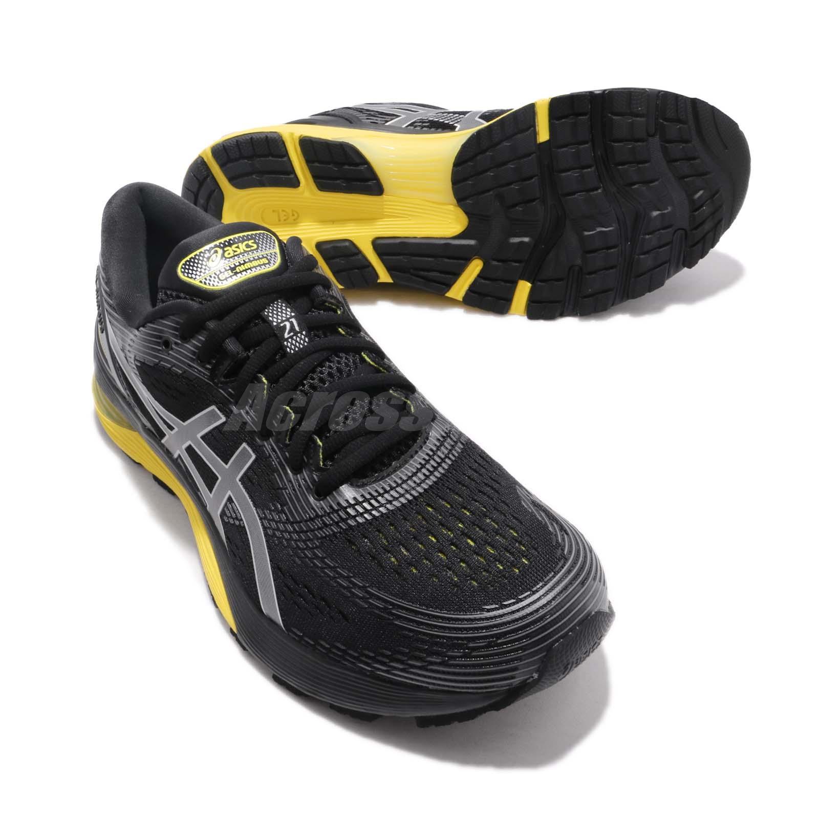 d373da29902 Details about Asics Gel Nimbus 21 2E Wide Black Lemon Spark Men Running  Shoes 1011A172-003