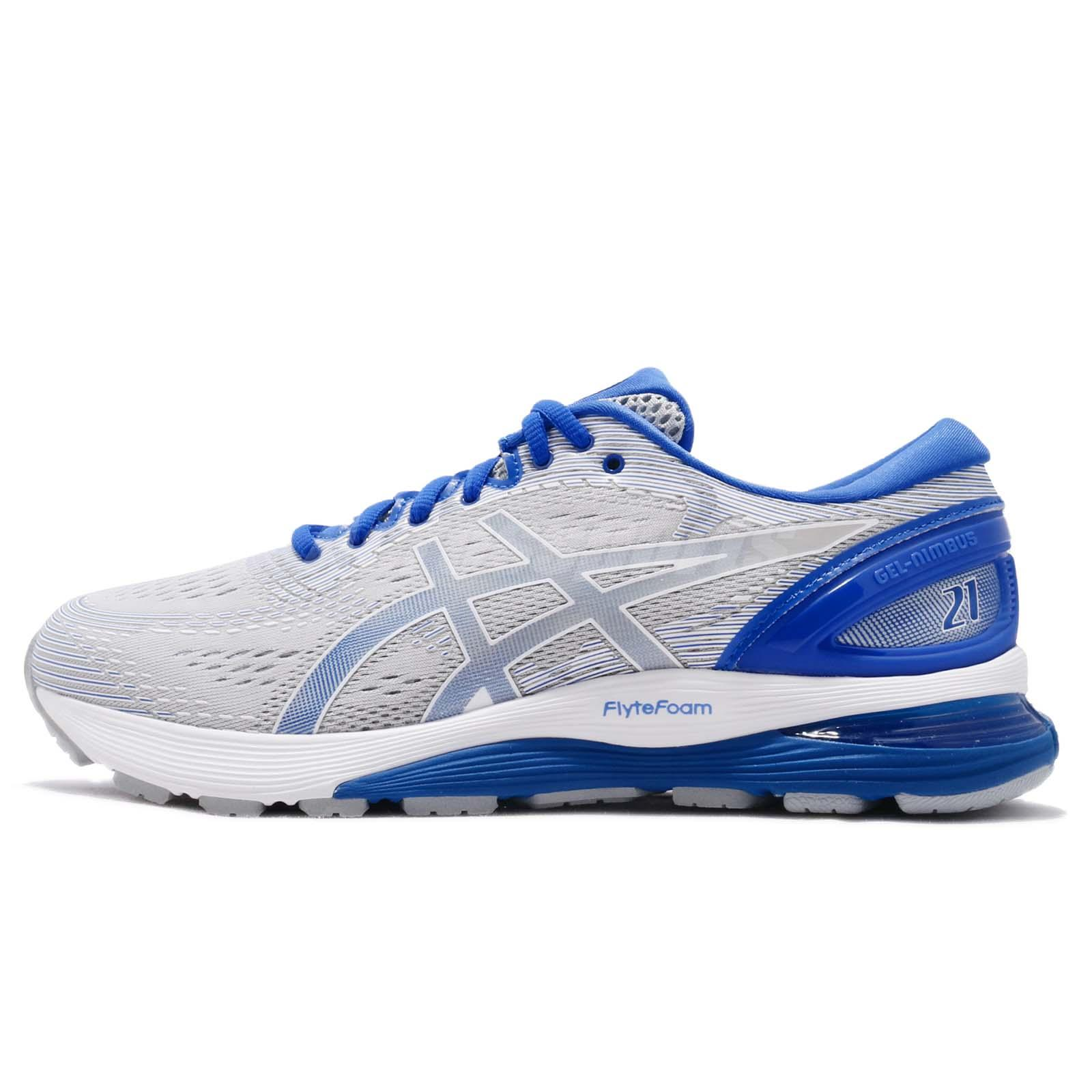 huge selection of 99d07 e8403 Asics Gel Nimbus 21 Lite Show Grey Blue Men Running Shoes Sneakers  1011A207-020