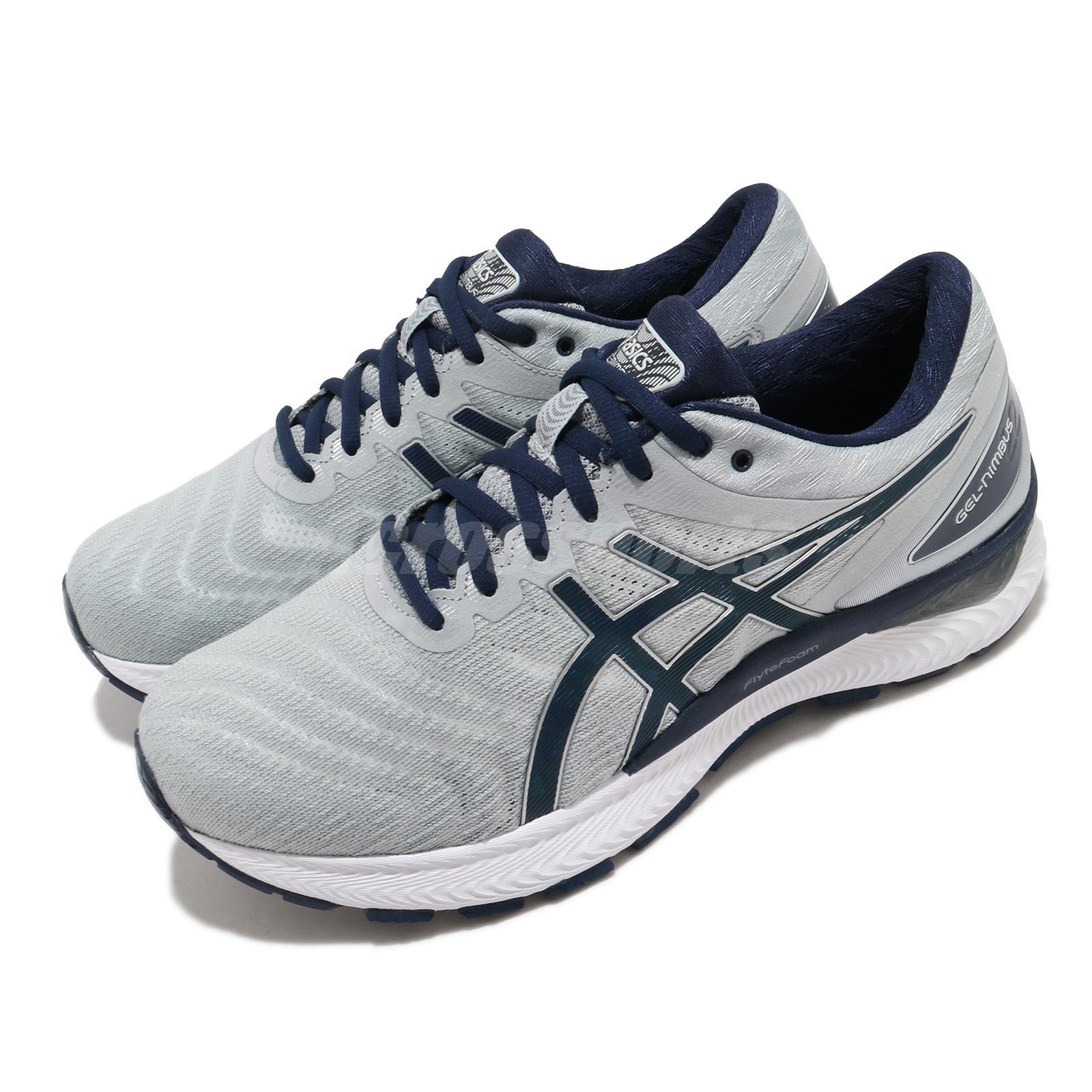 libro de bolsillo Inválido El cuarto  Asics Gel-Nimbus 22 4E Extra Wide Grey Navy White Men Running Shoes  1011A682-025 | eBay