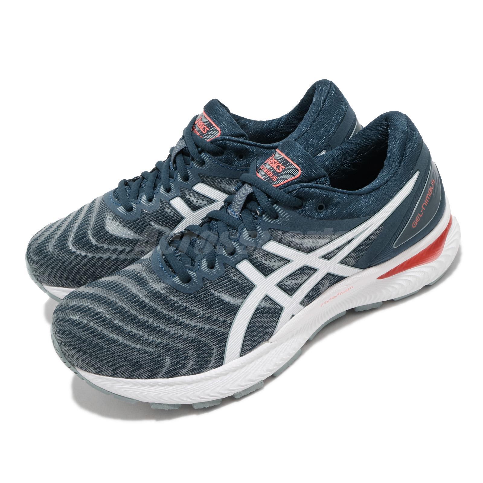 consonante cobre local  Asics Gel-Nimbus 22 4E Extra Wide Grey Blue White Men Running Shoes  1011A682-404 | eBay