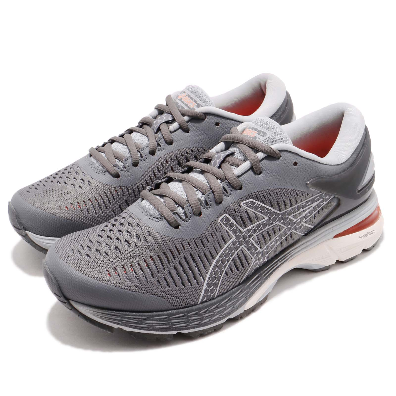 0c28b19a28d56 Details about Asics Gel-Kayano 25 Carbon Grey White Women Running Shoes  Sneakers 1012A026-020