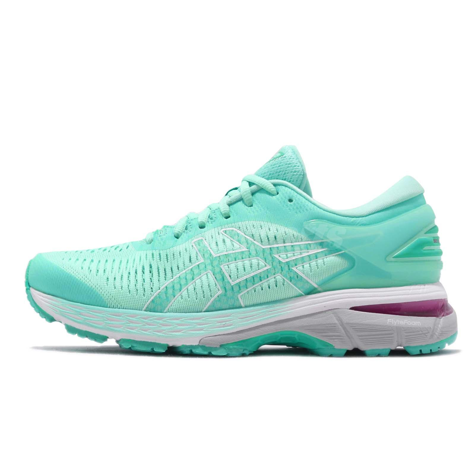 Detalhes sobre Asics Gel Kayano 25 Icy Morning Sea Glass Women Running  Shoes 1012A026-402