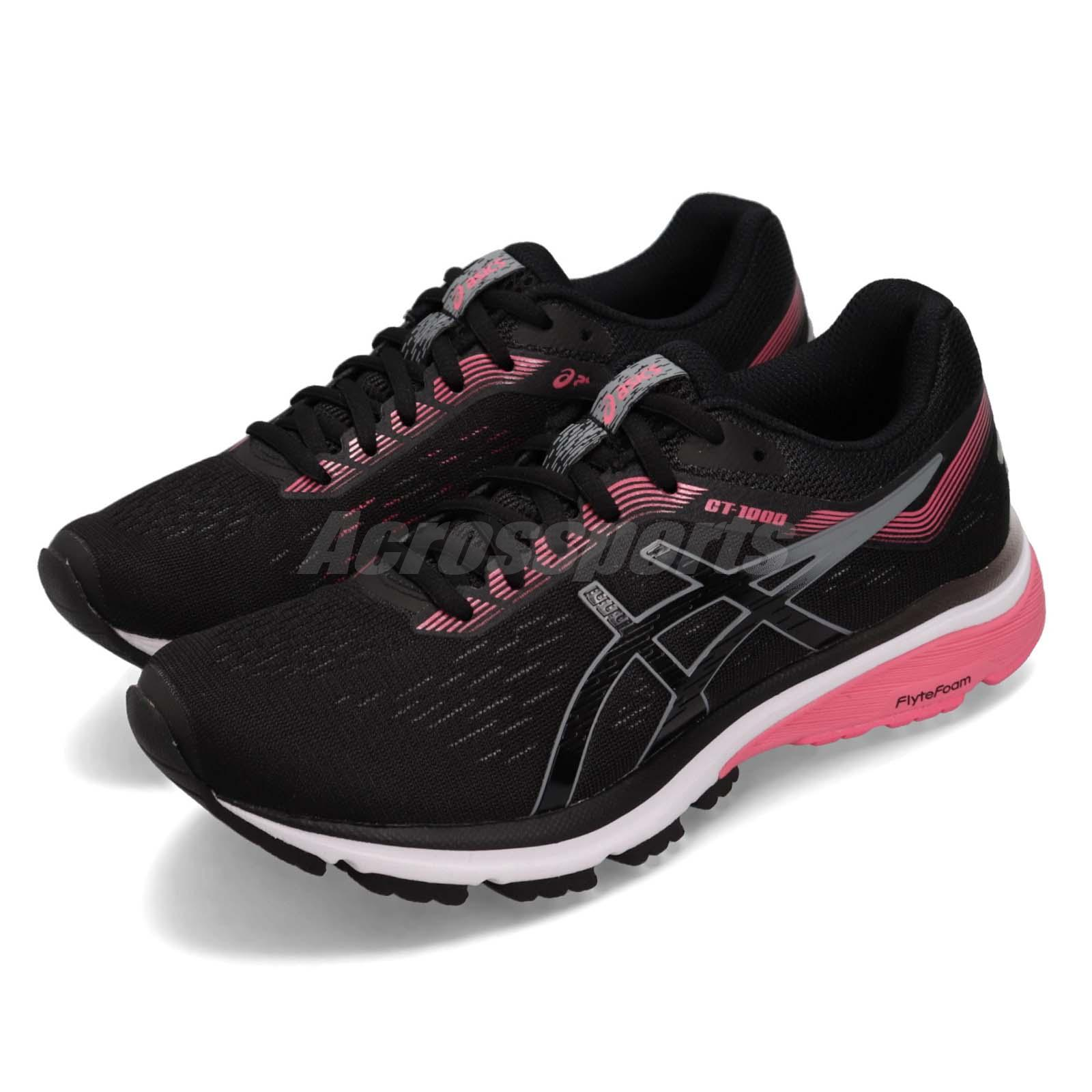 38100bf9 Details about Asics GT-1000 7 D Wide Black Grey Pink Women Running Shoes  Sneakers 1012A029-004