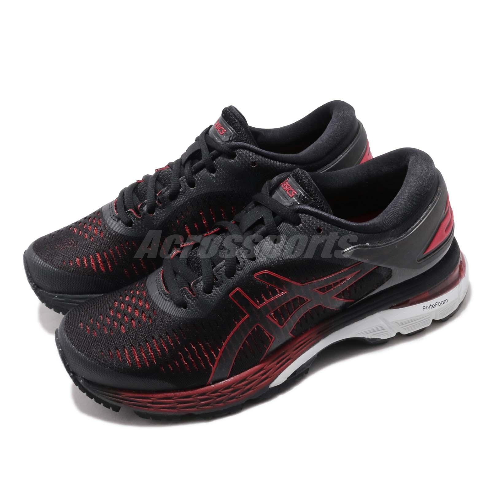 Details about Asics Gel Kayano 25 D Wide Black Classic Red Women Running  Shoes 1012A032-004 8633297c09b1