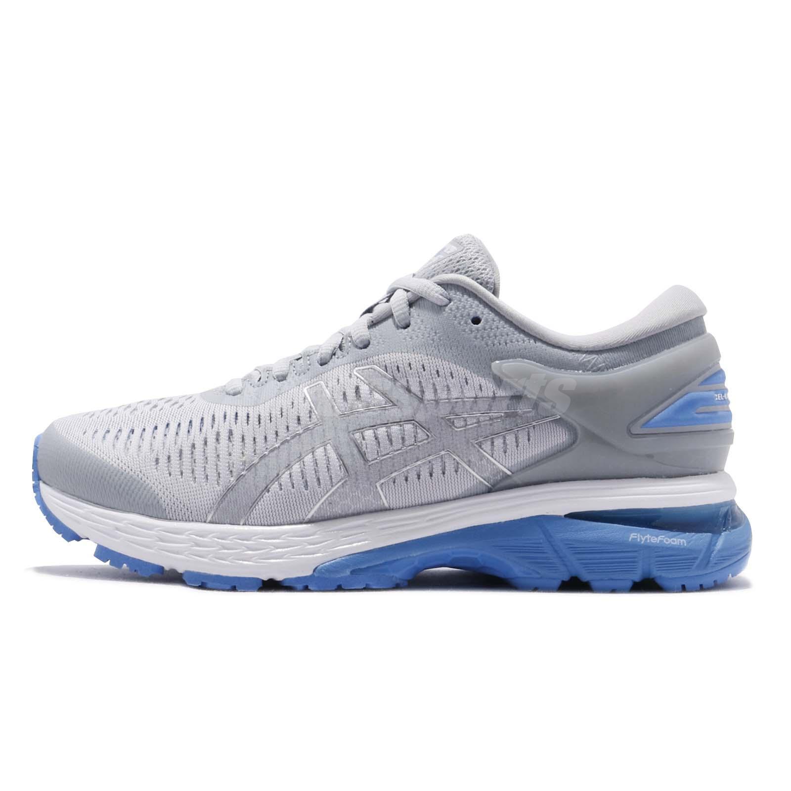 7d76cbfb8ac7 Asics Gel Kayano 25 D Wide Grey Blue Coast Women Running Shoes 1012A032-022