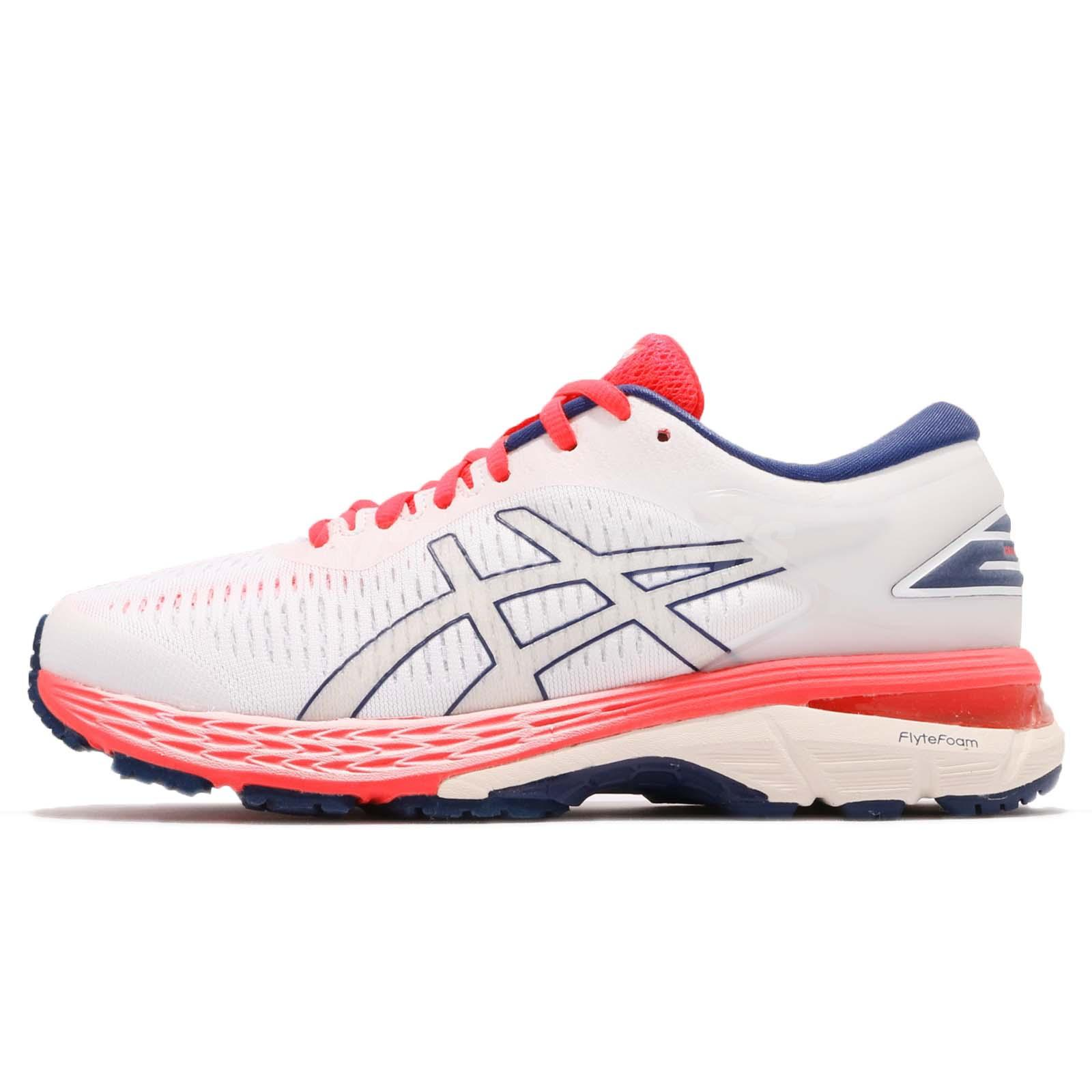 03ca72b95b Details about Asics Gel-Kayano 25 D Wide White Pink Blue Womens Running  Shoes 1012A03-2100