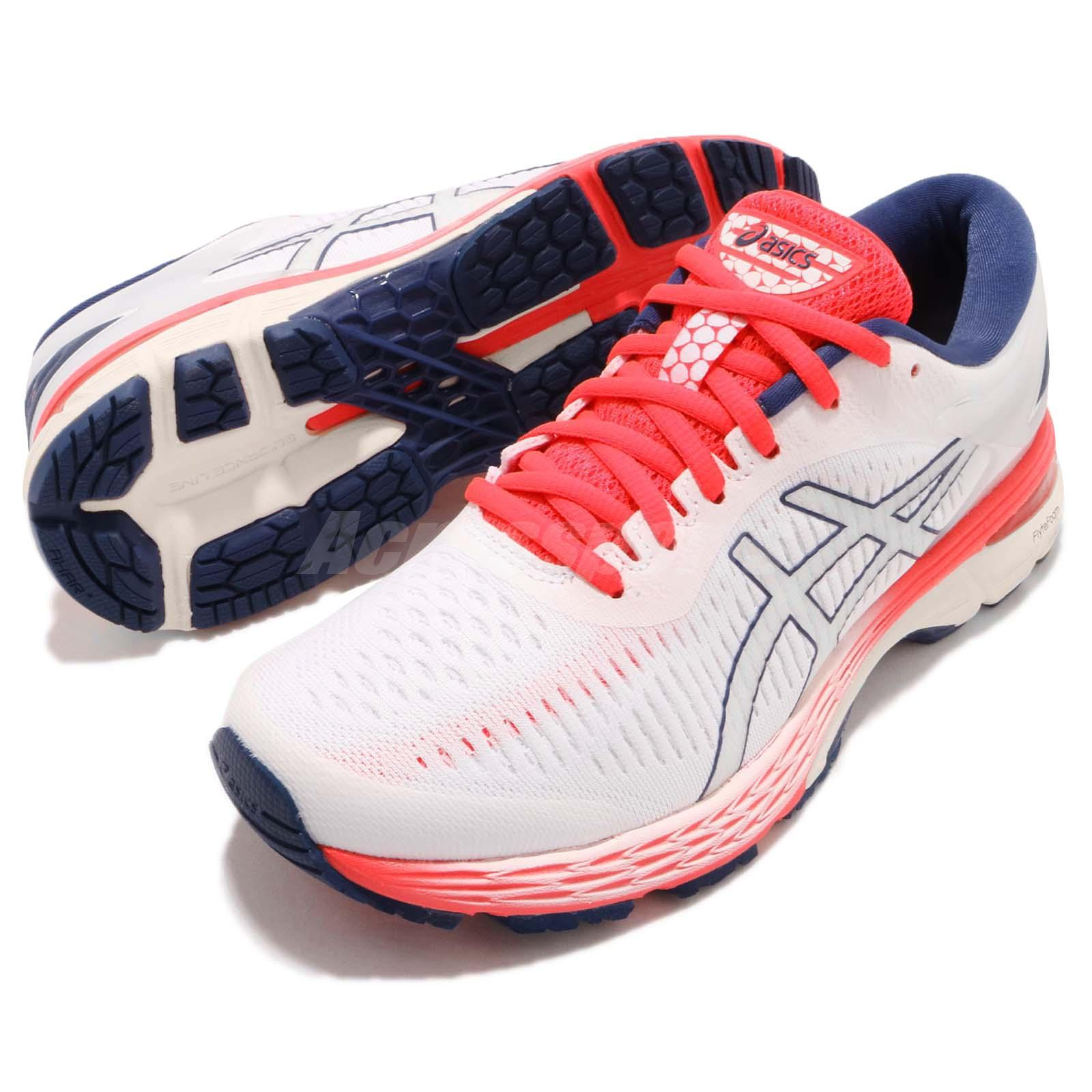451939220fc Details about Asics Gel-Kayano 25 D Wide White Pink Blue Womens Running  Shoes 1012A03-2100