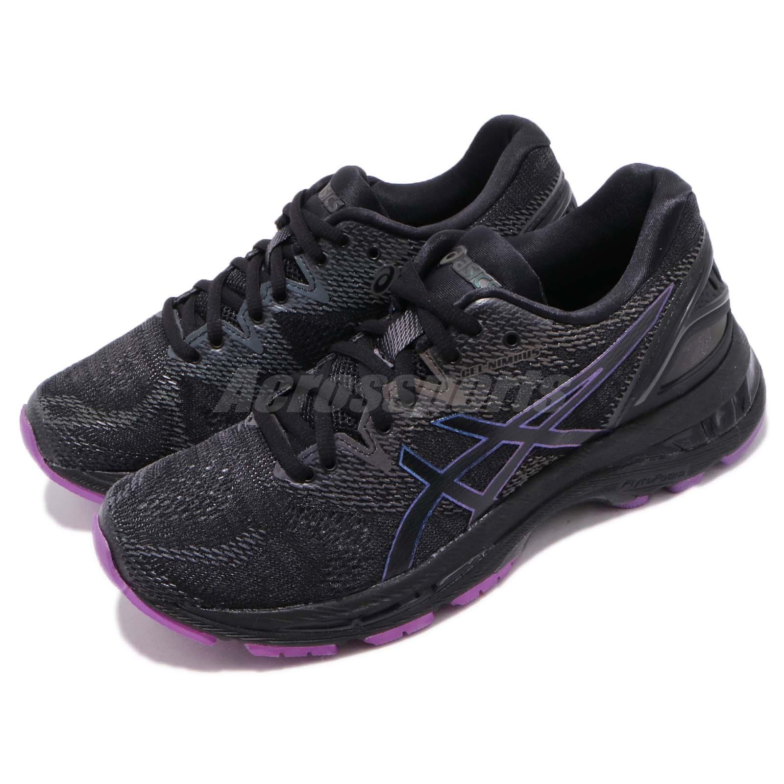 Details about Asics Gel-Nimbus 20 Lite-Show Black Purple Women Running Shoes 1012A037-001