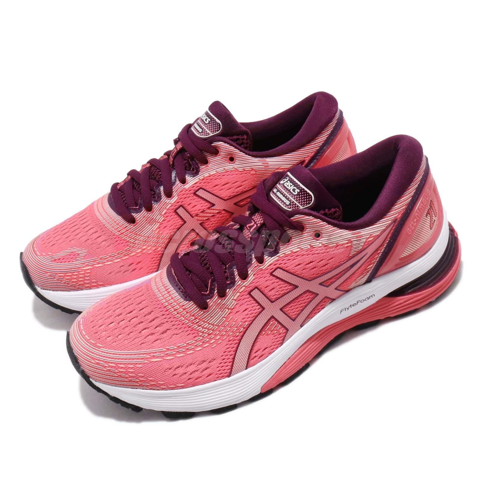 Asics Gel-Nimbus 21 Baked Pink Cameo Women Running Shoes Sneakers ...