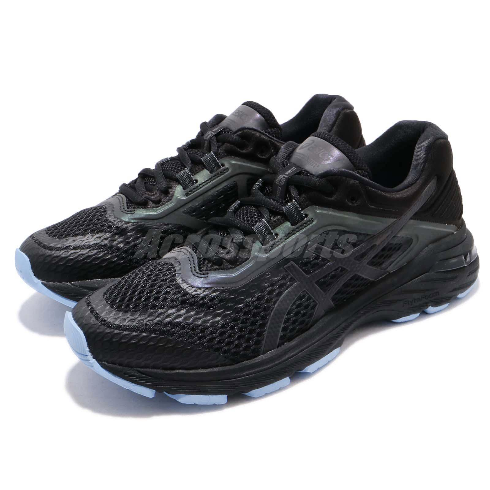 Details about Asics GT 2000 6 Lite Show Black Blue Reflective Women Running Shoes 1012A169 001