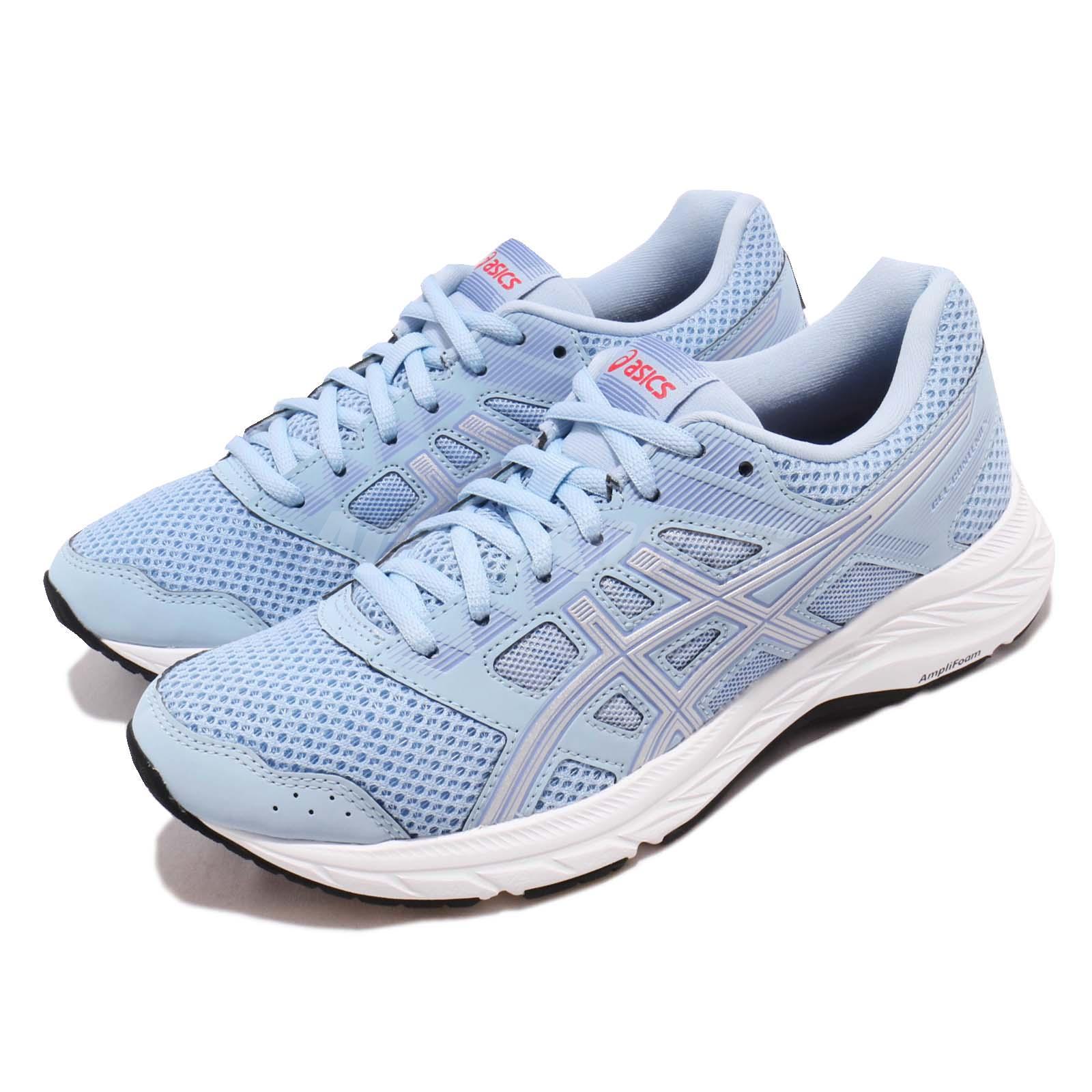 watch 7b504 d8d01 Details about Asics Gel Contend 5 Skylight Silver Women Running Shoes  Sneakers 1012A234-400