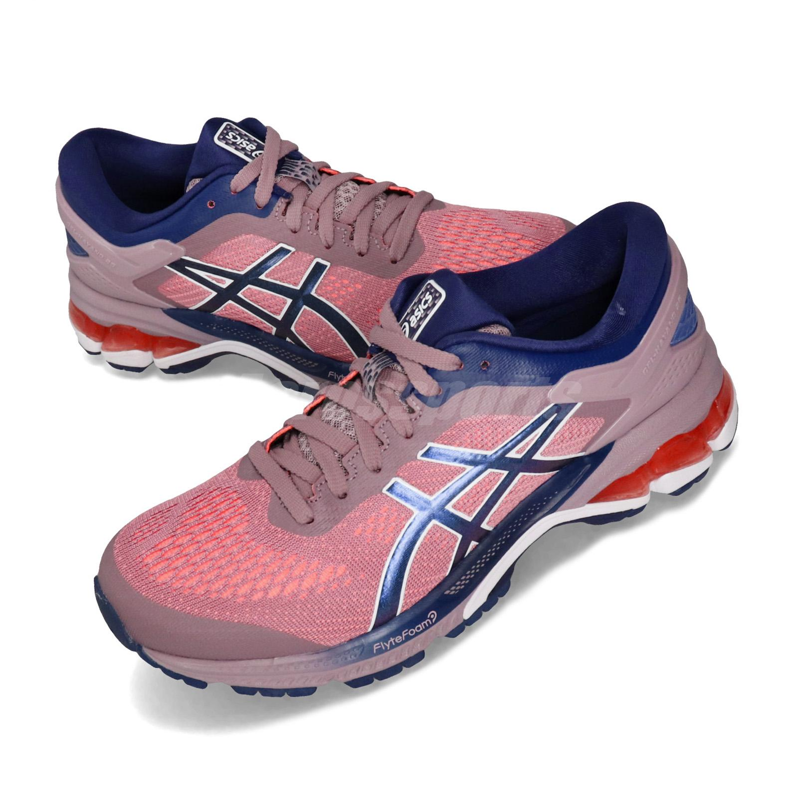 new product 70a16 88bdf Details about Asics Gel-Kayano 26 Pink Navy White Women Running Shoes  Sneakers 1012A457-500