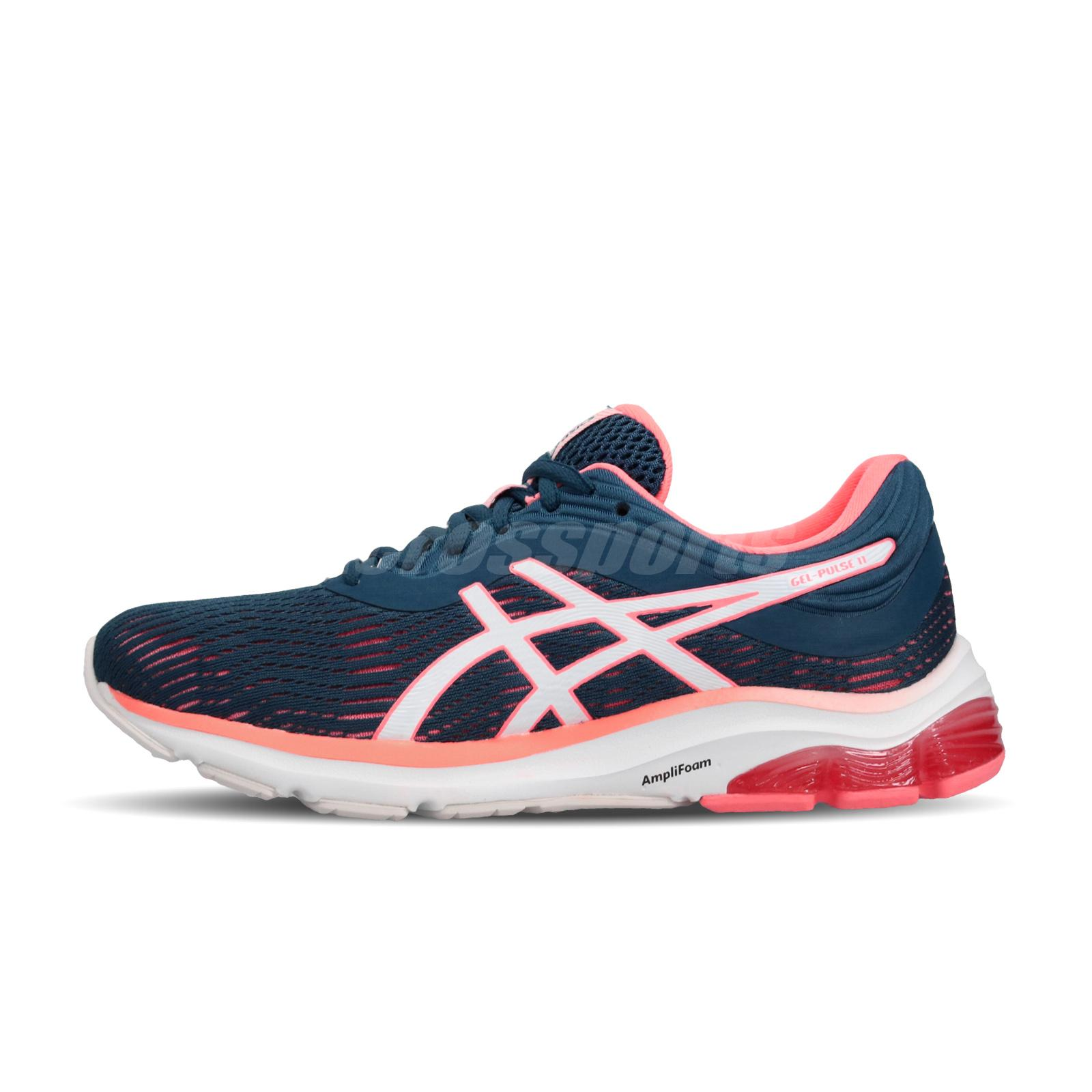 cacfe1fa07 Details about Asics Gel-Pulse 11 Mako Blue Sun Coral Women Running Shoes  Sneakers 1012A467-401