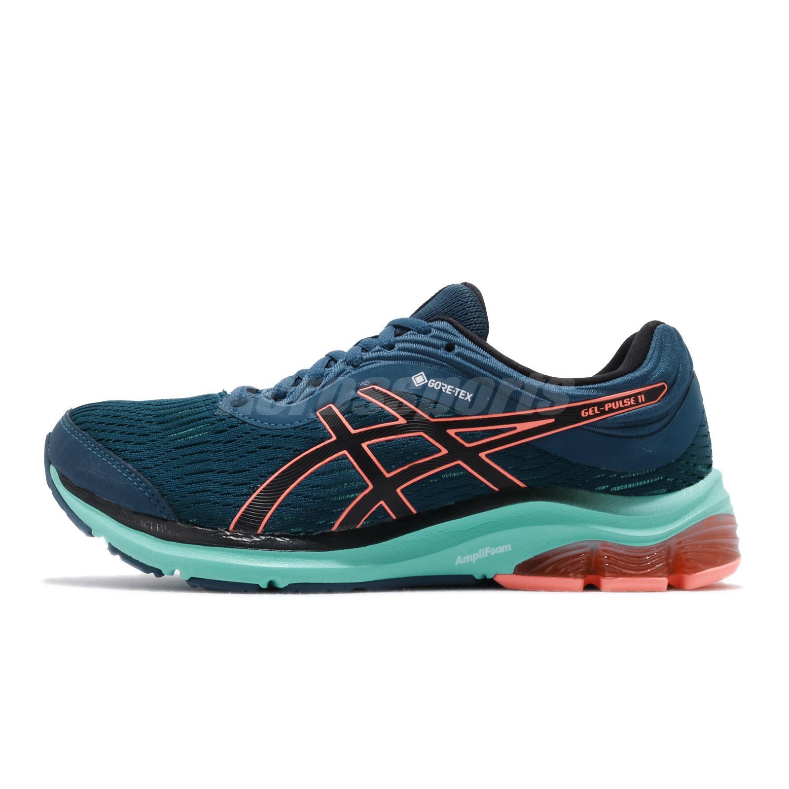 432cdac5c6 Details about Asics Gel-Pulse 11 GTX Gore-Tex Mako Blue Coral Women Running  Shoes 1012A483-400