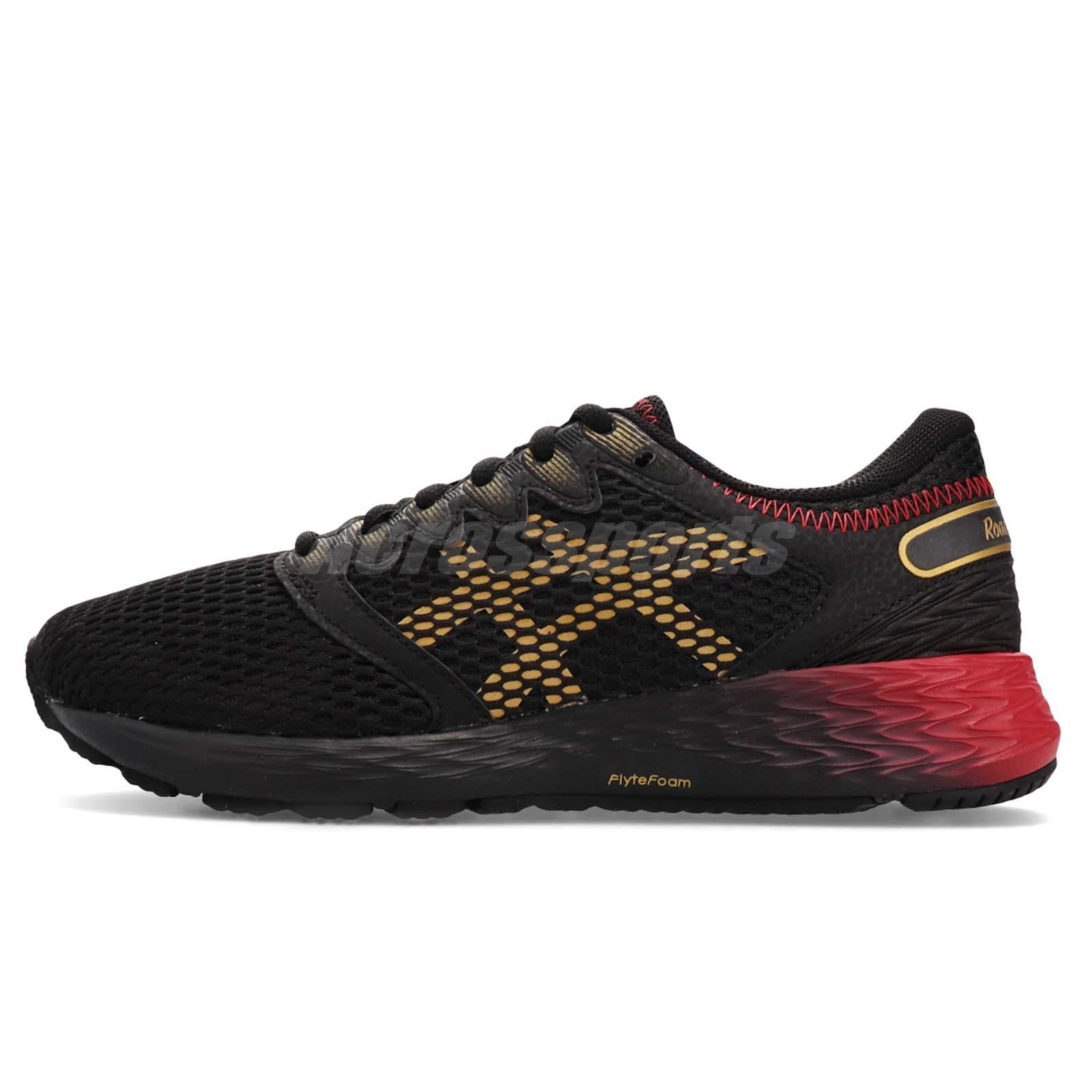 Details about Asics RoadHawk FF 2 Black Red Gold Women Running Shoes Sneakers 1012A503 001