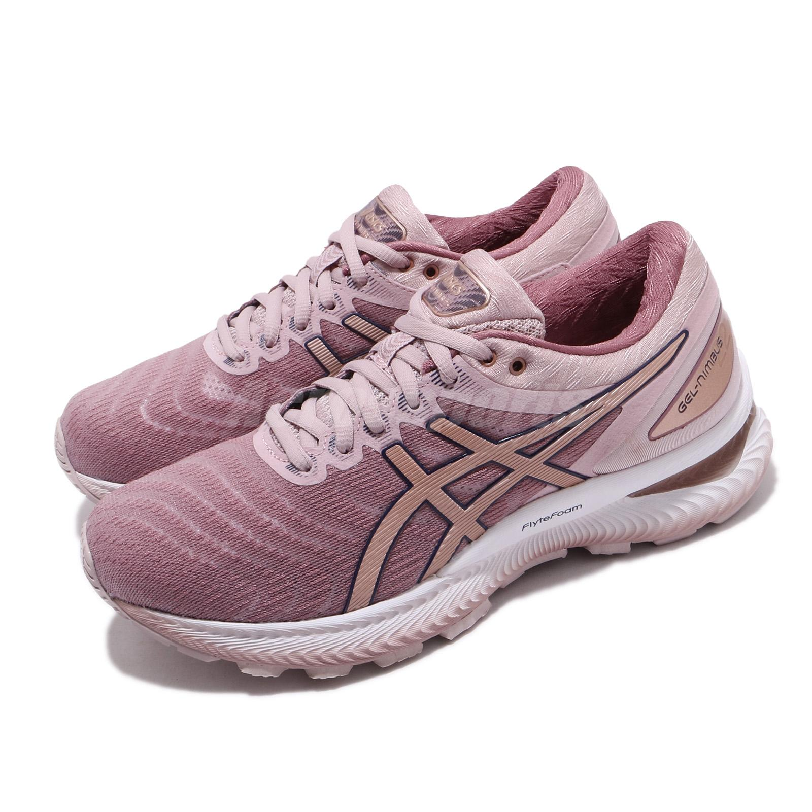Details about Asics Gel-Nimbus 22 D Wide Pink Rose Gold Women Running Shoes  1012A586-702