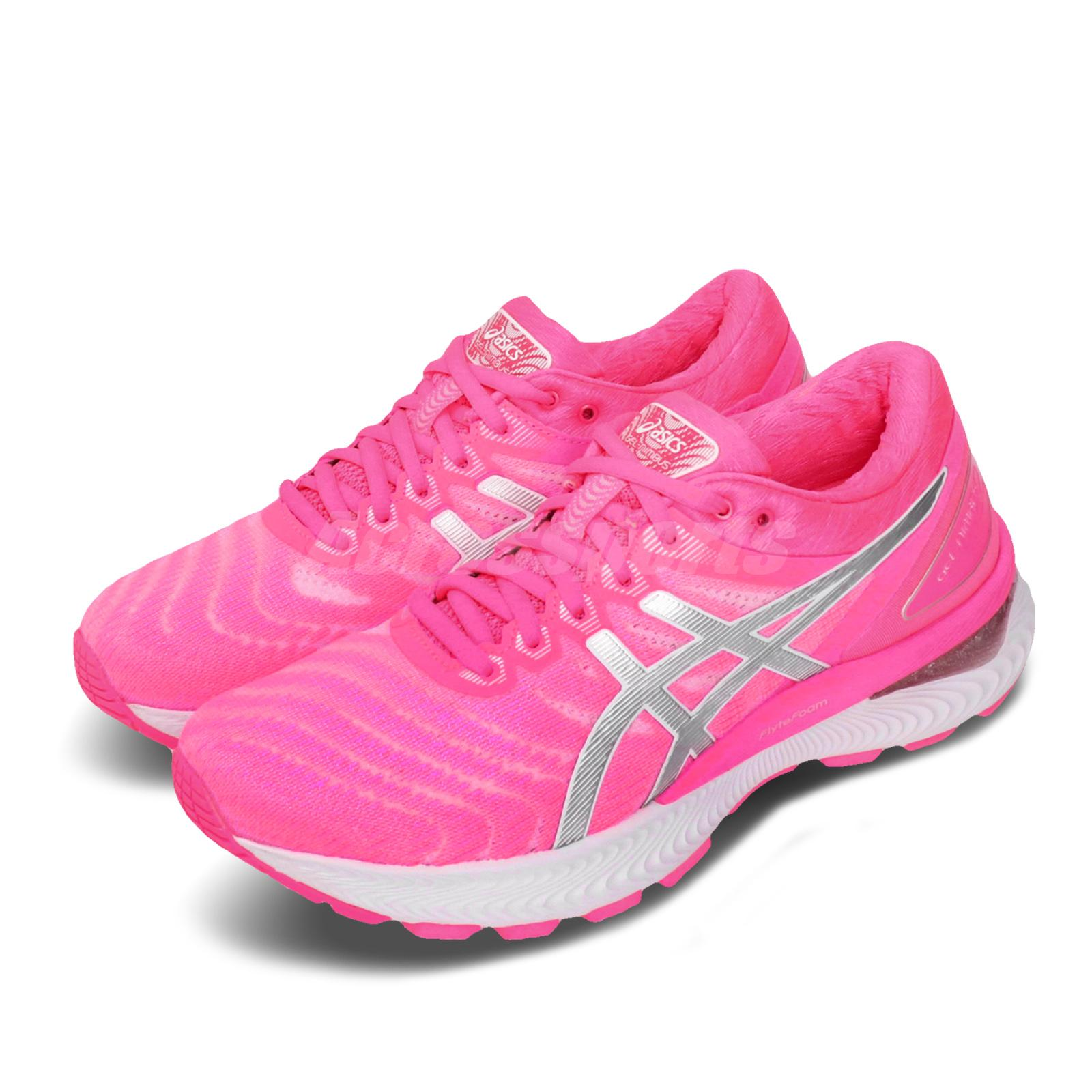 Details about Asics Gel-Nimbus 22 FlyteFoam Pink Silver Womens Road Running  Shoes 1012A587-701