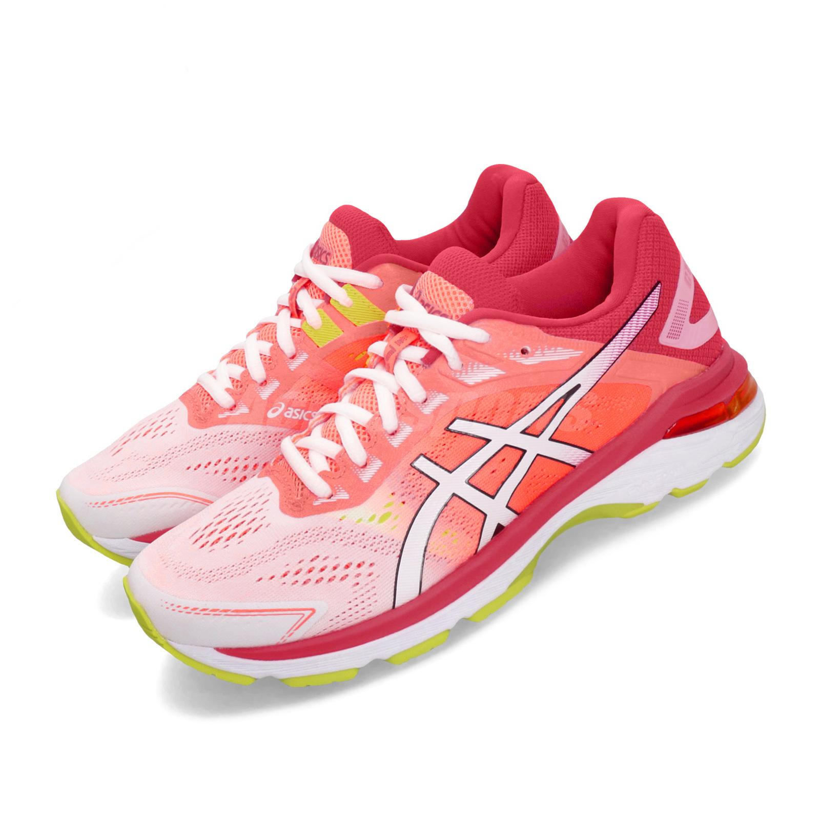 Details about Asics GT 2000 7 White Laser Pink Orange Women Running Shoes Sneaker 1012A610 100