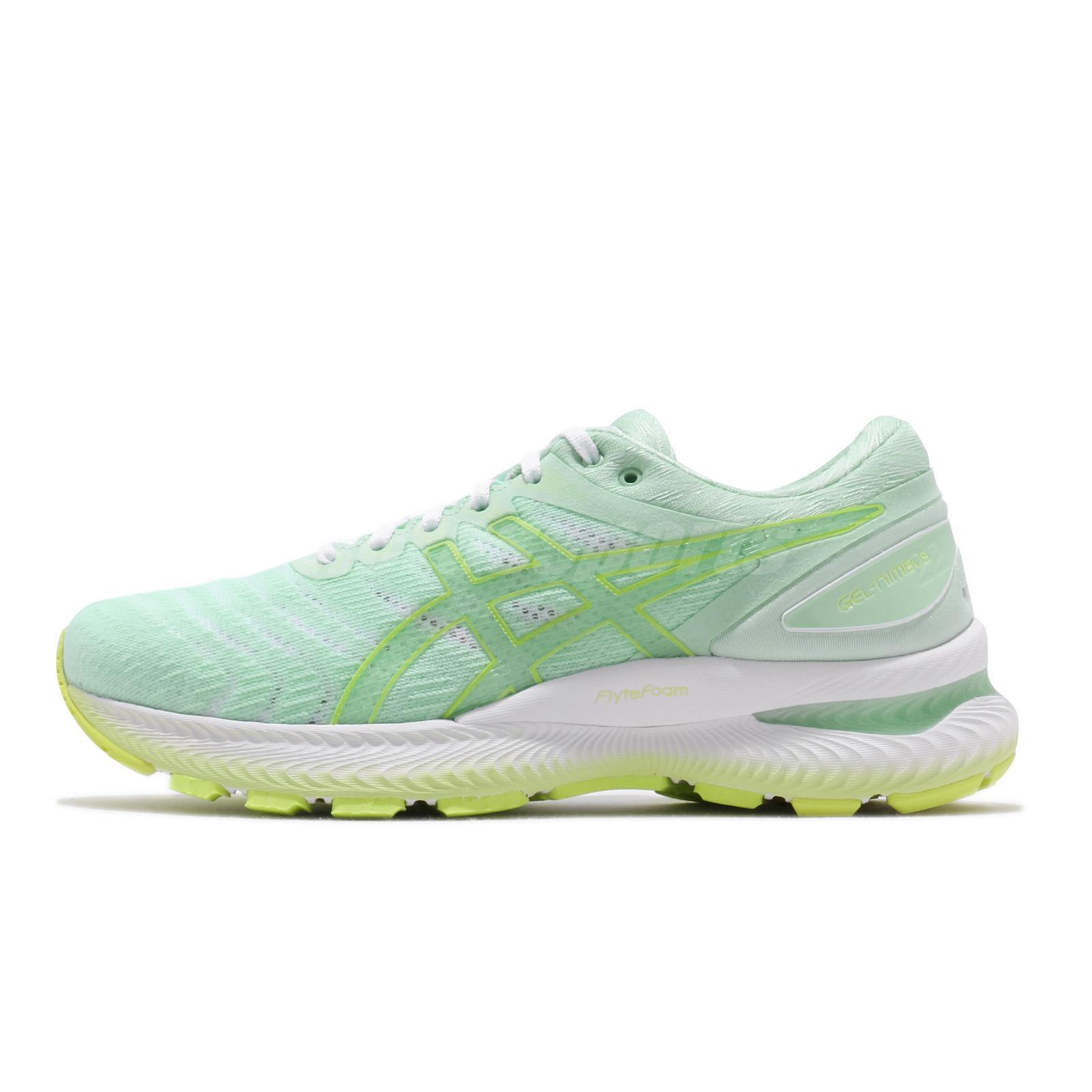 Details about Asics Gel-Nimbus 22 Modern Tokyo Mint Tint Yellow Women  Running 1012A663-300