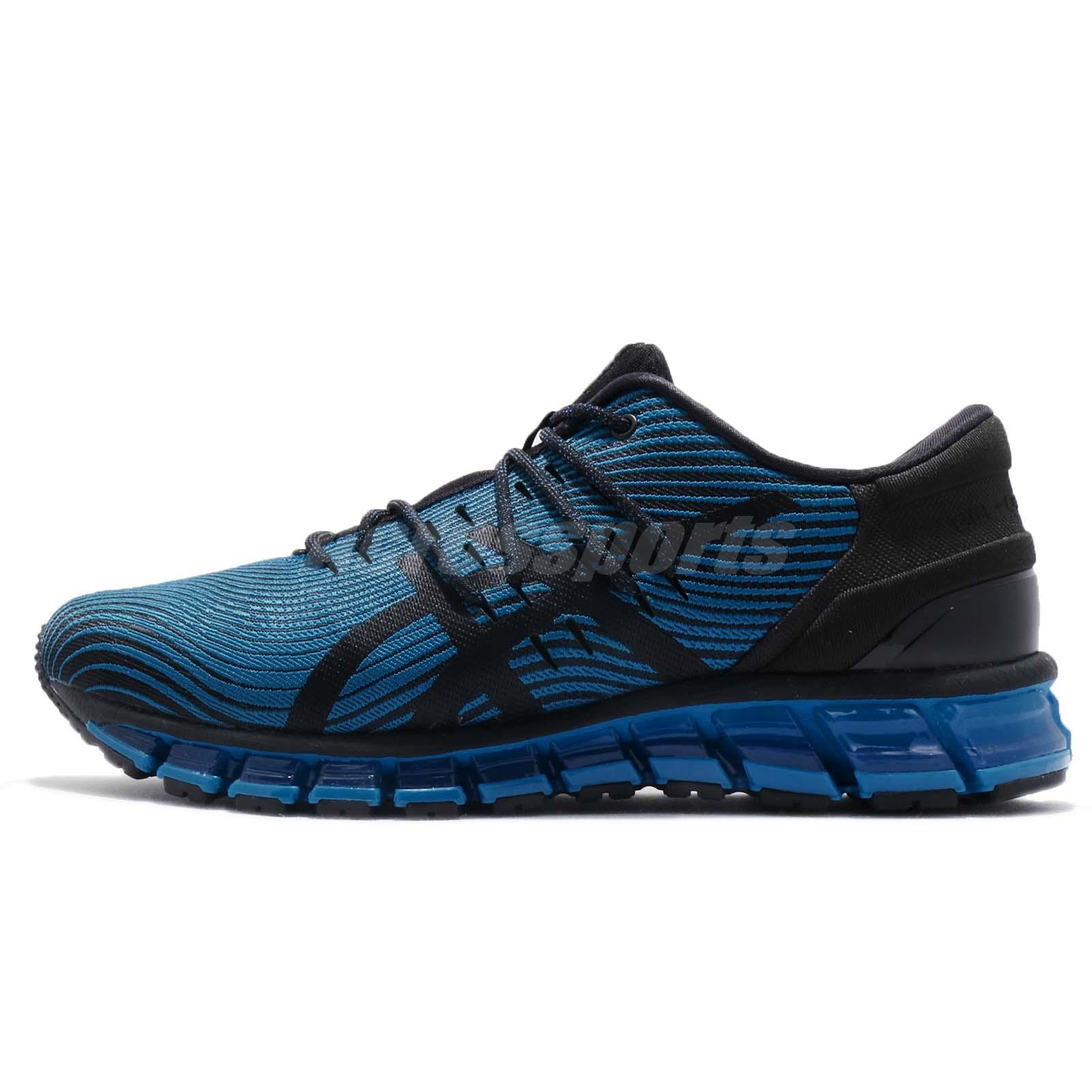low cost 77e34 c12c1 Asics Gel-Quantum 360 4 Race Blue Black Men Running Shoes Sneakers  1021A028-400