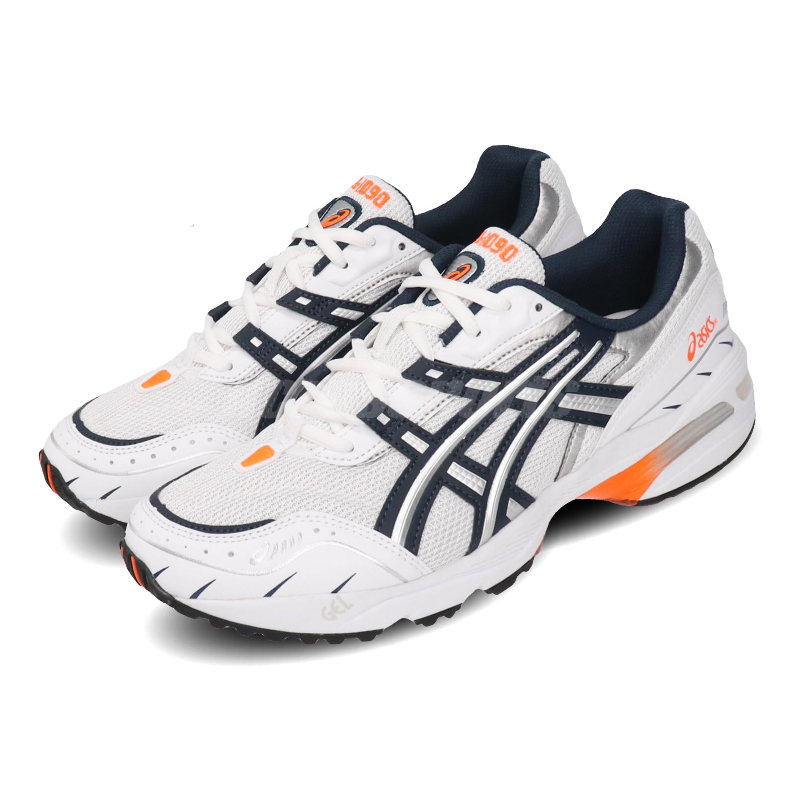 Details about Asics Gel-1090 White Navy Orange Mens Womens Retro Running  Shoes 1021A275-100