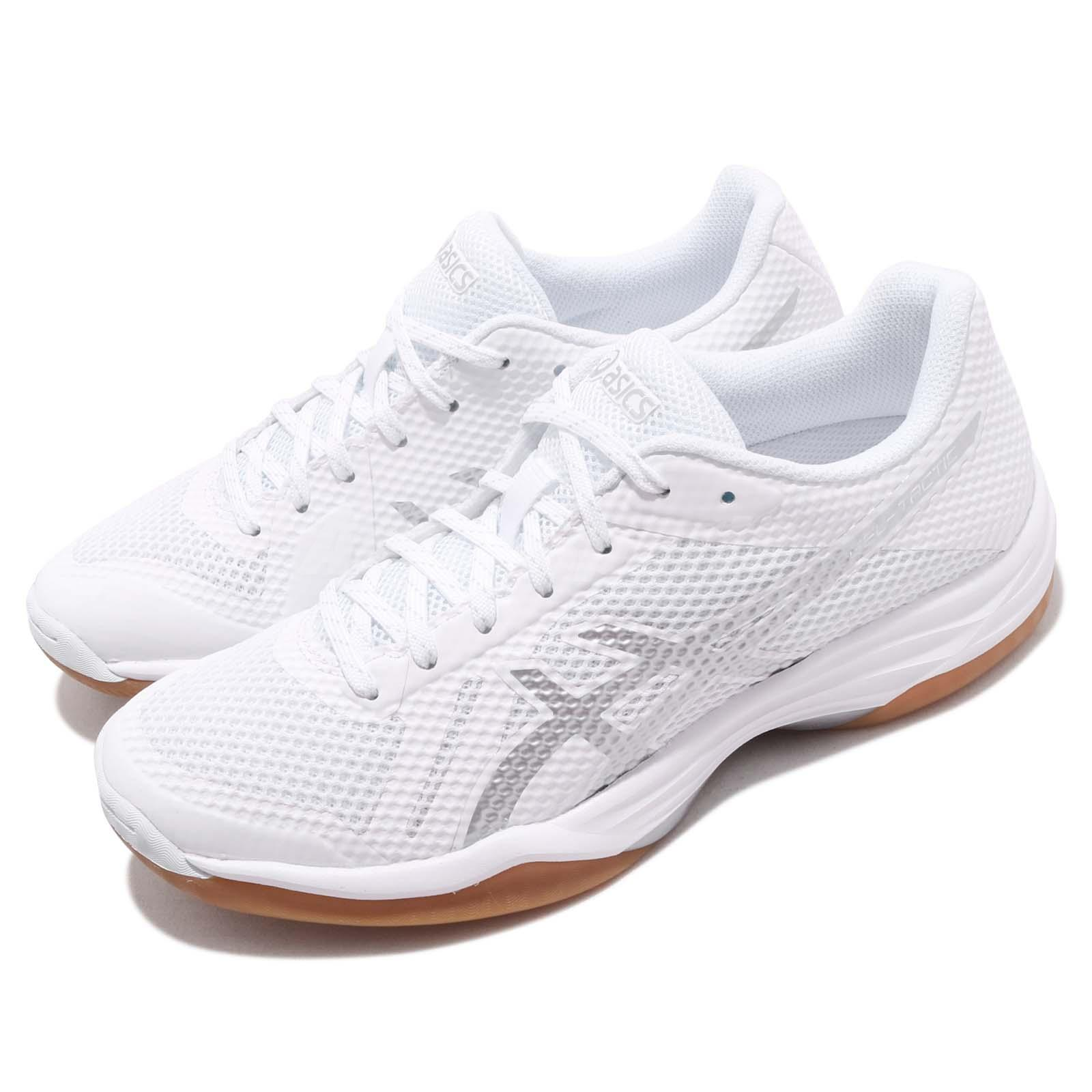 46cf5c47b004 Details about Asics Gel Tactic White Silver Gum Women Volleyball Badminton  Shoes 1052A017-144