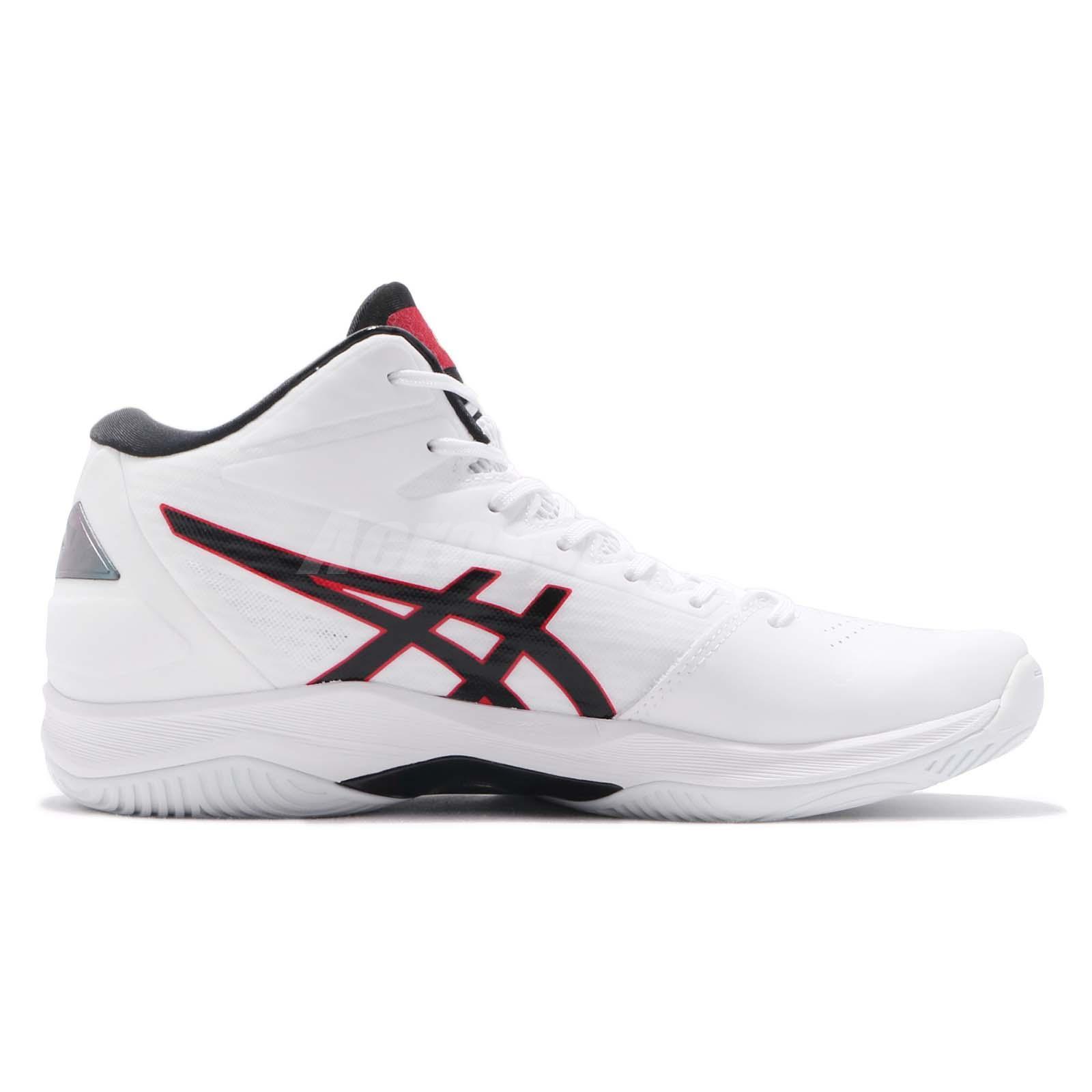 Men's Shoes Asics Gelhoop V11 White Black Red Men Basketball Shoes Sneakers 1061a015-116