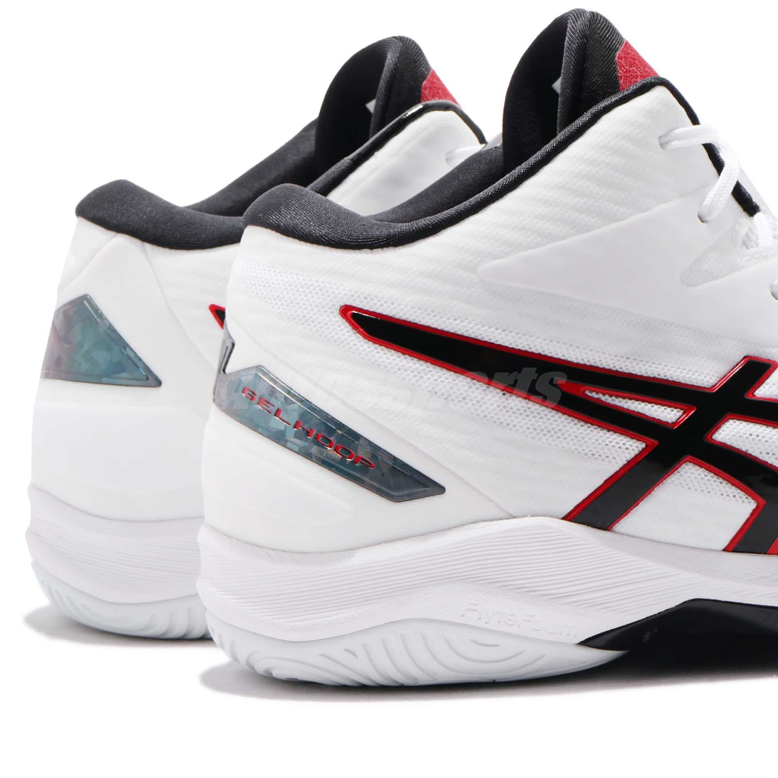 Clothing, Shoes & Accessories Asics Gelhoop V11 White Black Red Men Basketball Shoes Sneakers 1061a015-116 Athletic Shoes