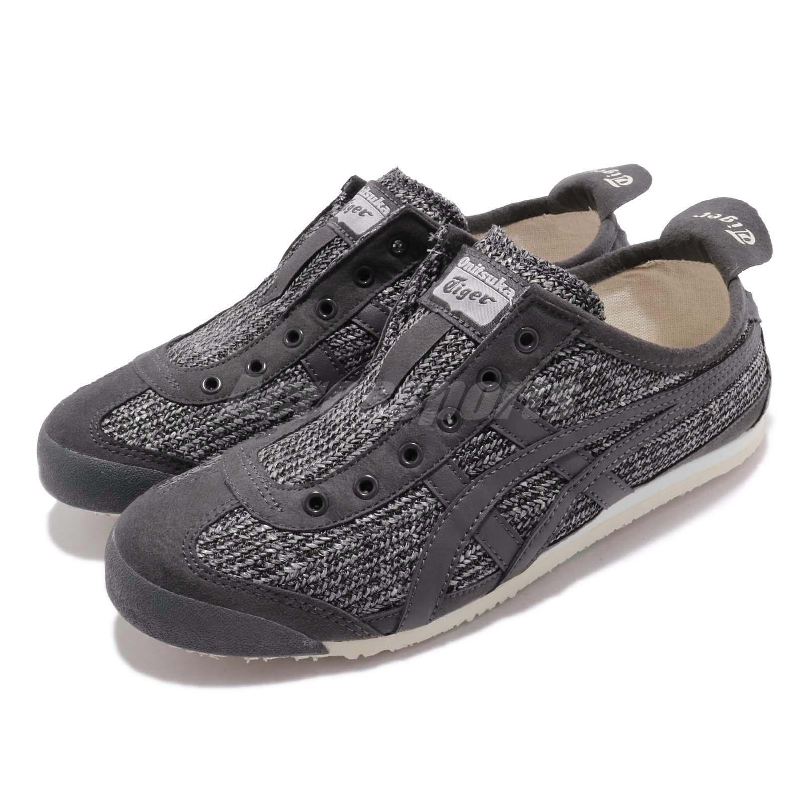 buy popular de798 d862b Details about Asics Onitsuka Tiger Mexico 66 Slip On Grey Women Shoes  Sneakers 1182A046-002