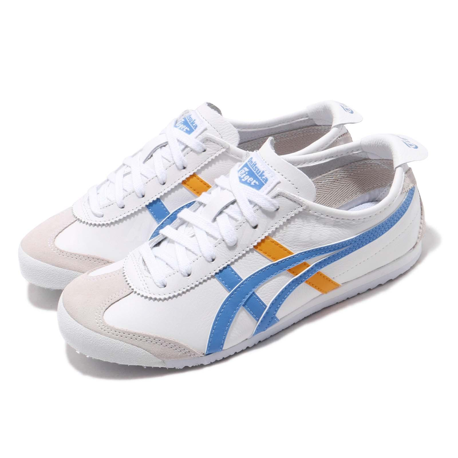 huge selection of 5486f 61ca4 Details about Asics Onitsuka Tiger Mexico 66 White Blue Women Running  Casual Shoe 1182A078-102