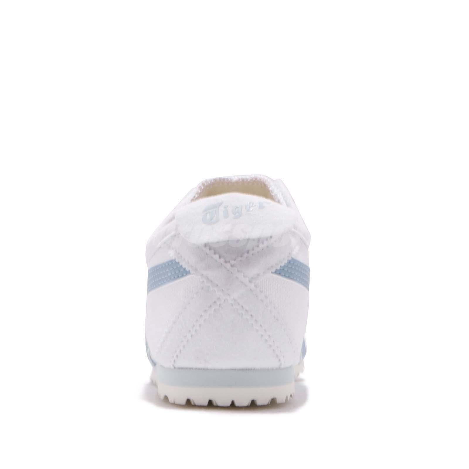 best sneakers e92c0 72b30 Details about Asics Mexico 66 Slip On White Blue Smoke Women Shoes Onitsuka  Tiger 1182A087-101