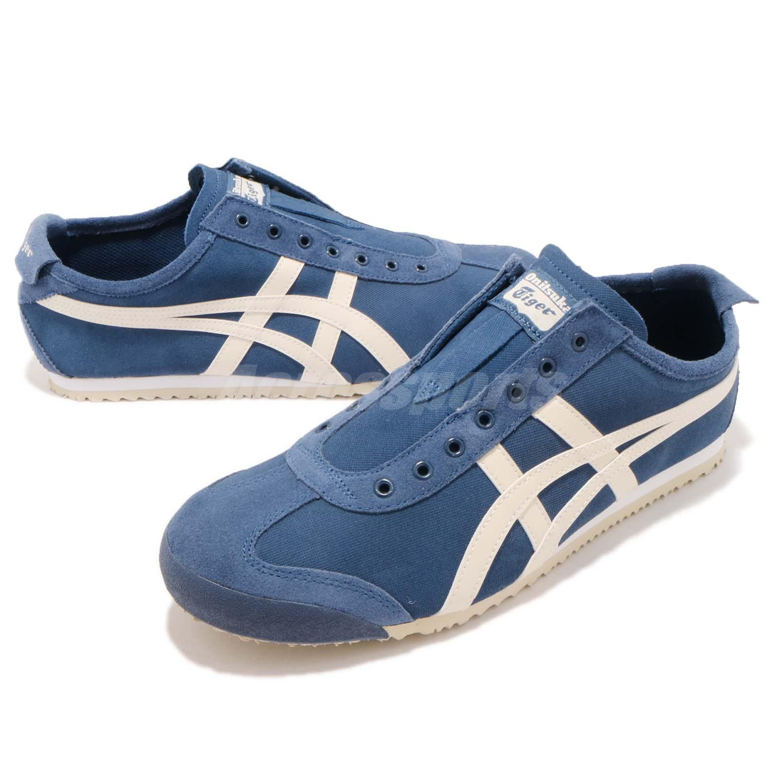 reputable site 86bed 59fe7 Details about Asics Onitsuka Tiger Mexico 66 Slip On Blue Ivory Men Casual  Shoes 1183A042-400
