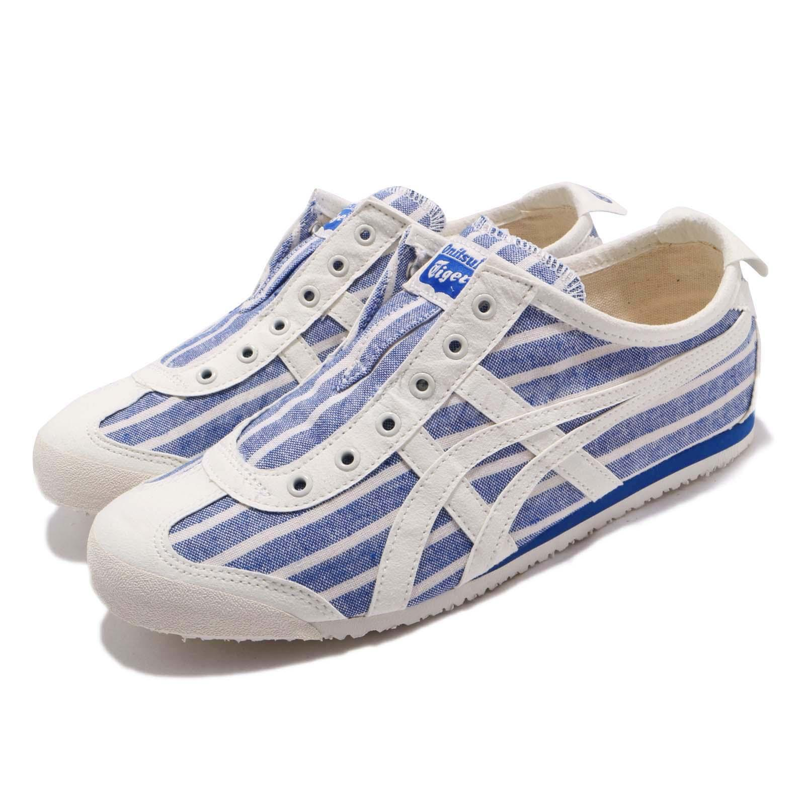 differently 23646 c1a27 Details about Asics Onitsuka Tiger Mexico 66 Slip On Blue Cream Men Women  Shoes 1183A239-401