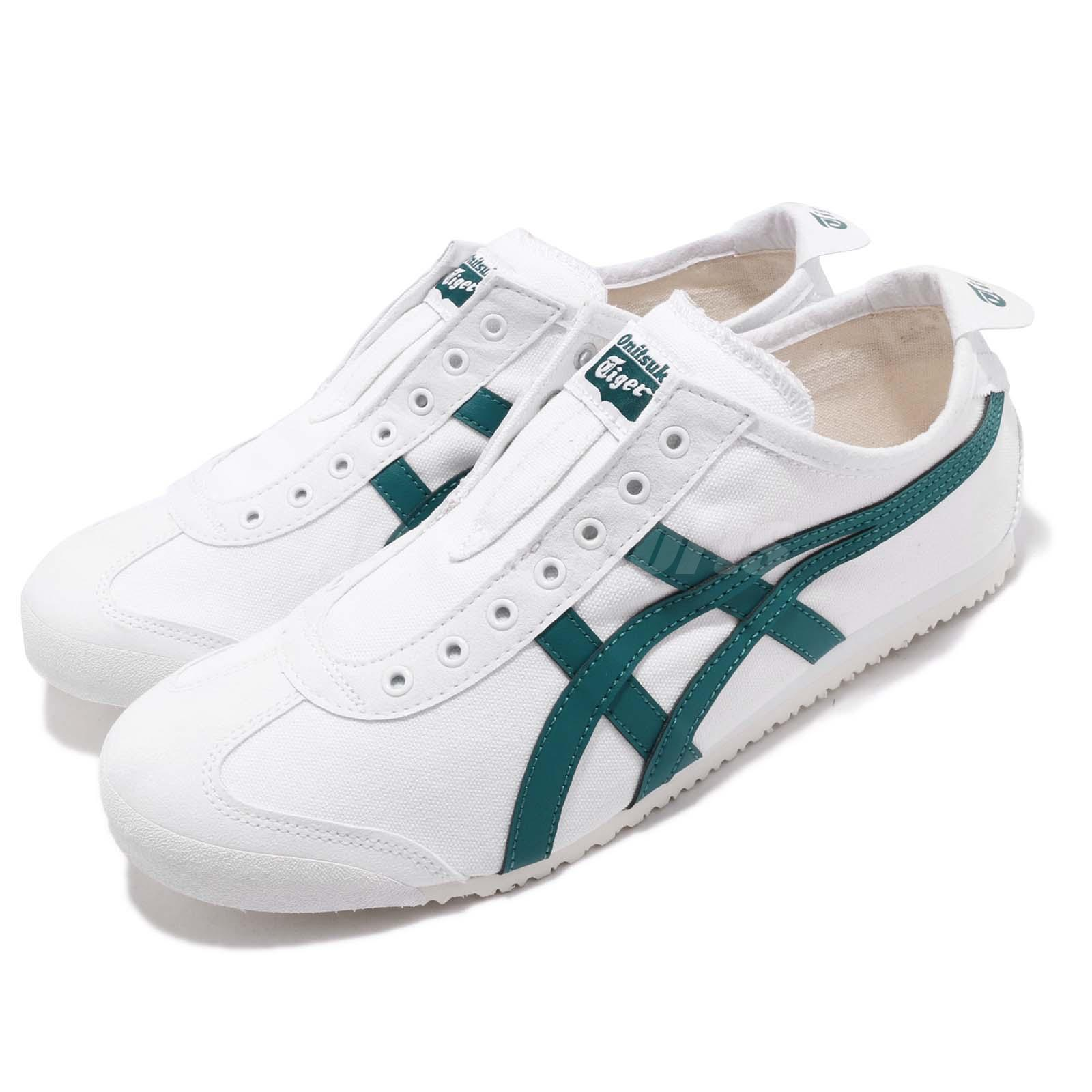 save off 4bfd0 54c29 Details about Asics Onitsuka Tiger Mexico 66 Slip-On White Green Men  Classic Shoe 1183A360-102