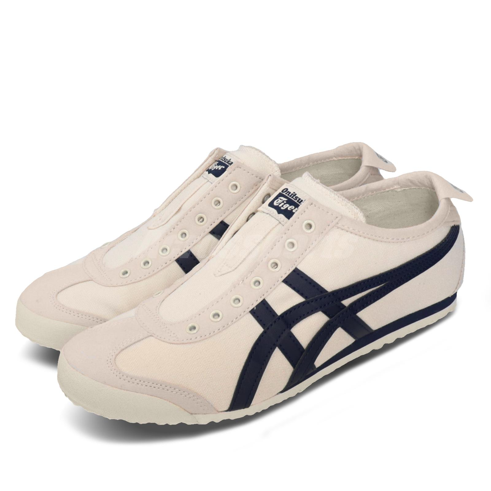 Details about Asics Onitsuka Tiger Mexico 66 Slip-On Birch Navy Mens Womens  Shoes 1183A360-205