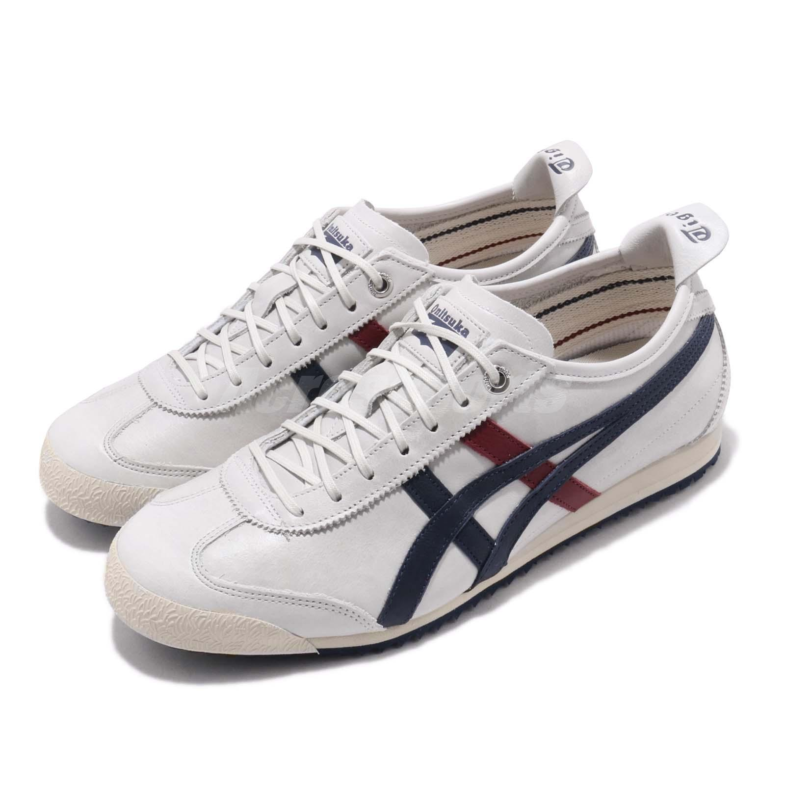 new product 6aeed faf9b Details about Asics Onitsuka Tiger Mexico 66 SD Grey Blue Red Retro Running  Shoes 1183A474-020