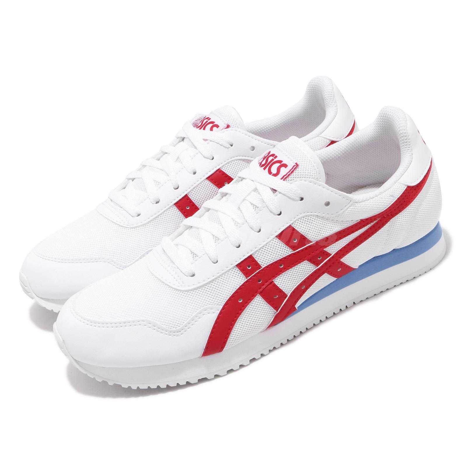 Ecología cesar ramo de flores  Asics Tiger Runner White Red Blue Men Retro Running Shoes Lifestyle  1191A207-04 | eBay