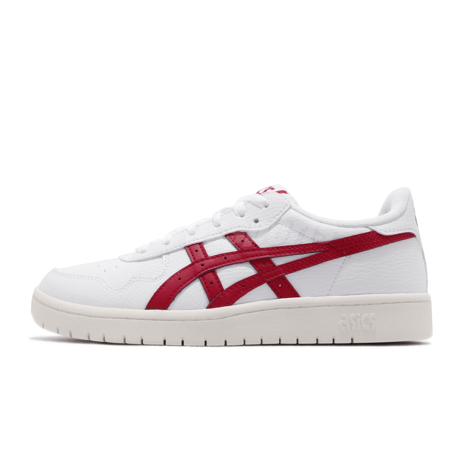Details about Asics Tiger Japan S White Red Womens Retro Casual Shoes  Sneakers 1192A148-100