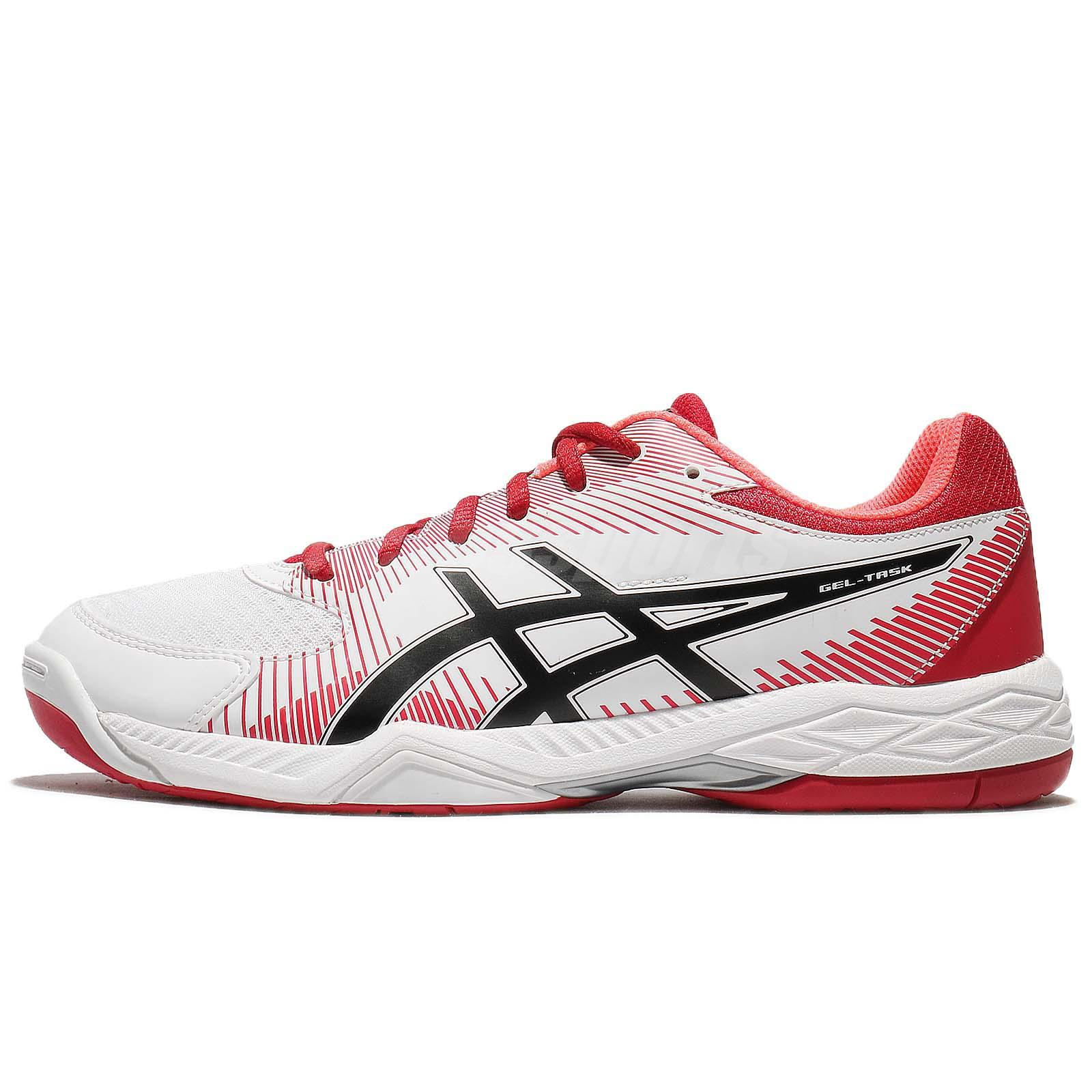 Details about Asics Gel-Task White Red Black Men Badminton Volleyball Shoes  Sneaker B704Y-0123