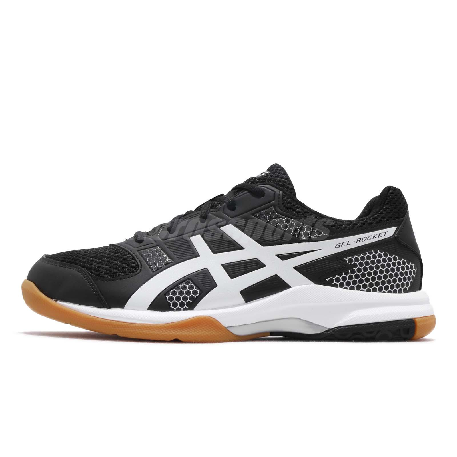 7e85aaf094 Asics Gel-Rocket 8 Black White Gum Men Volleyball Badminton Shoes B706Y-012