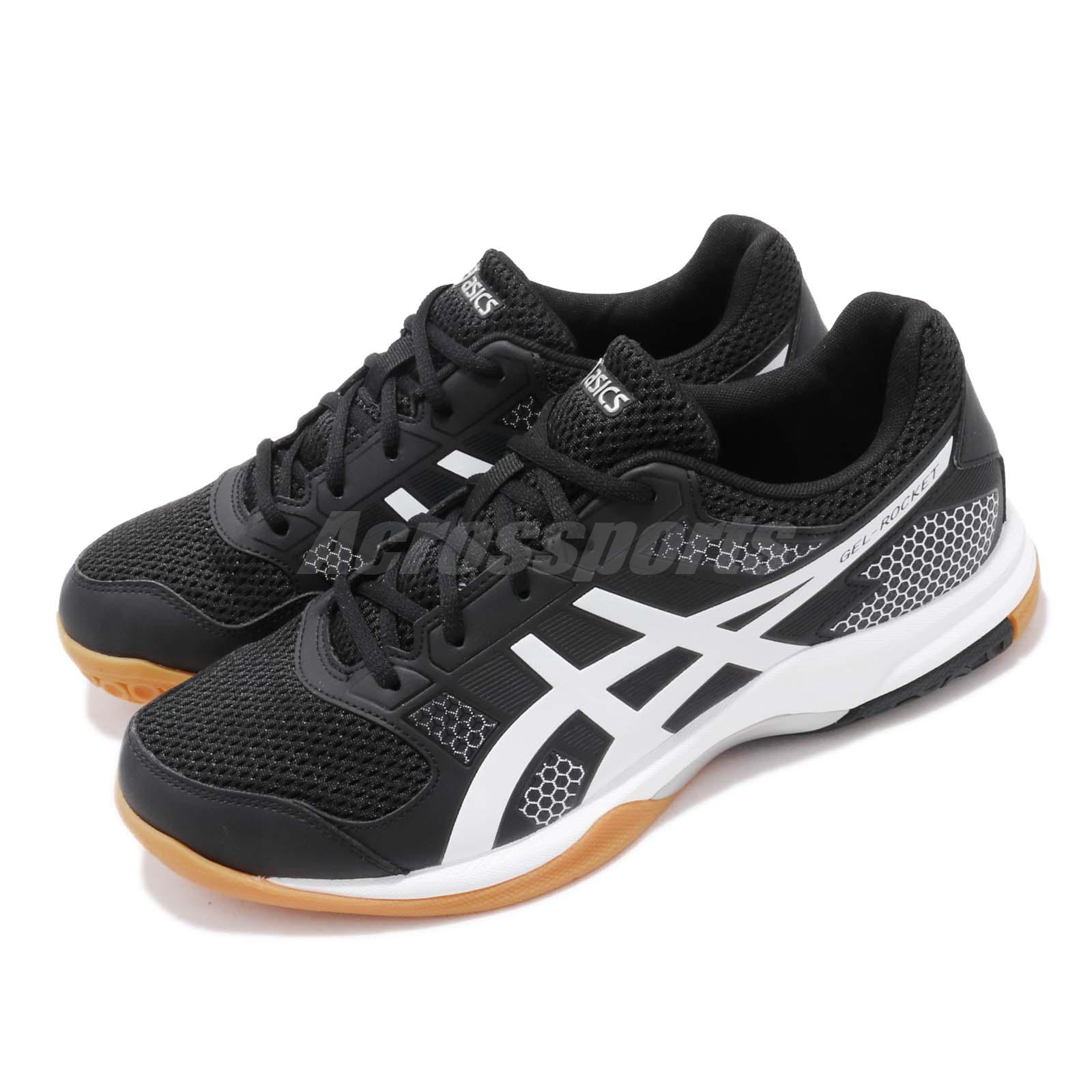 2d50f9cf4821 Details about Asics Gel-Rocket 8 Black White Gum Men Volleyball Badminton  Shoes B706Y-012