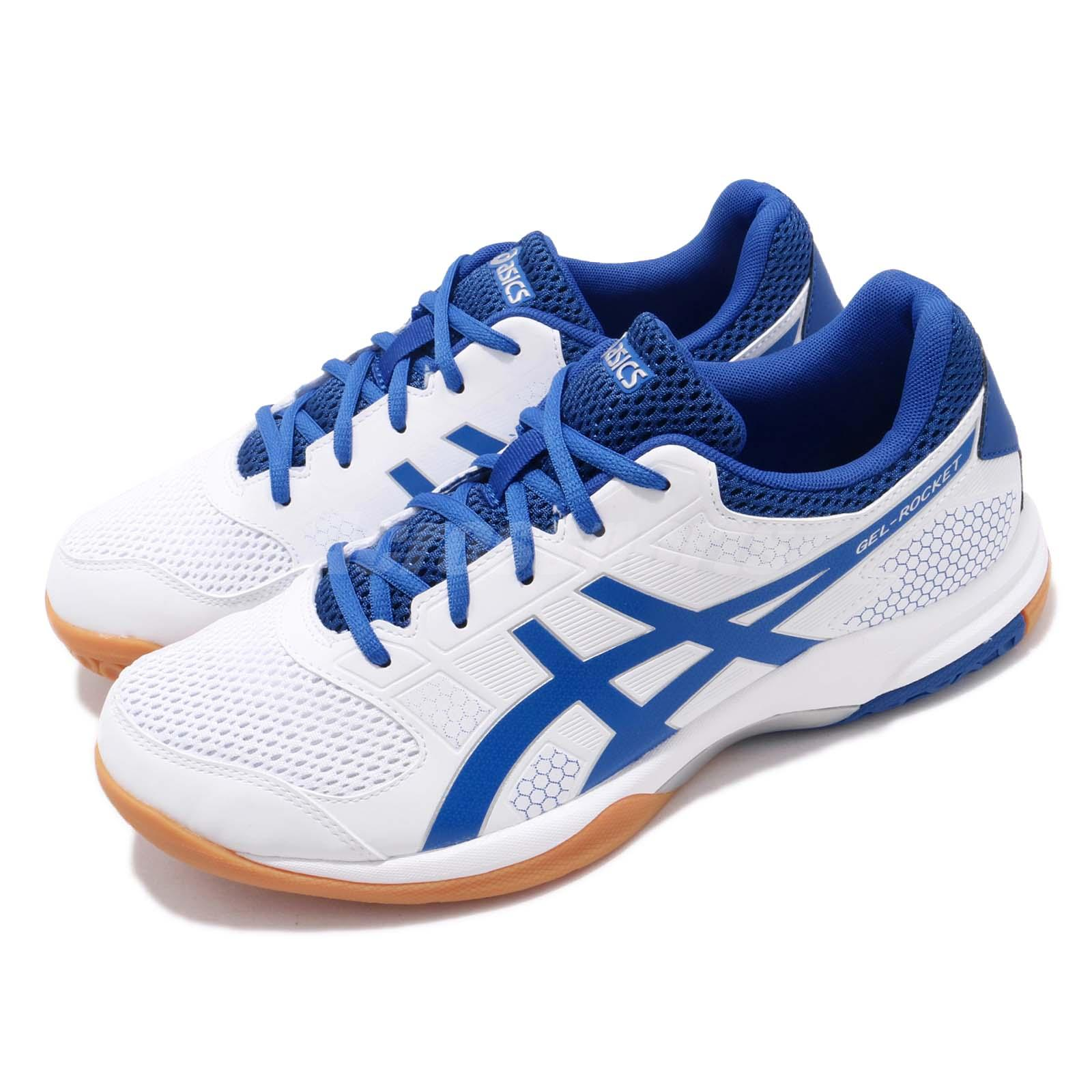 Details about Asics Gel-Rocket 8 White Blue Gum Men Volleyball Badminton  Shoes B706Y-124