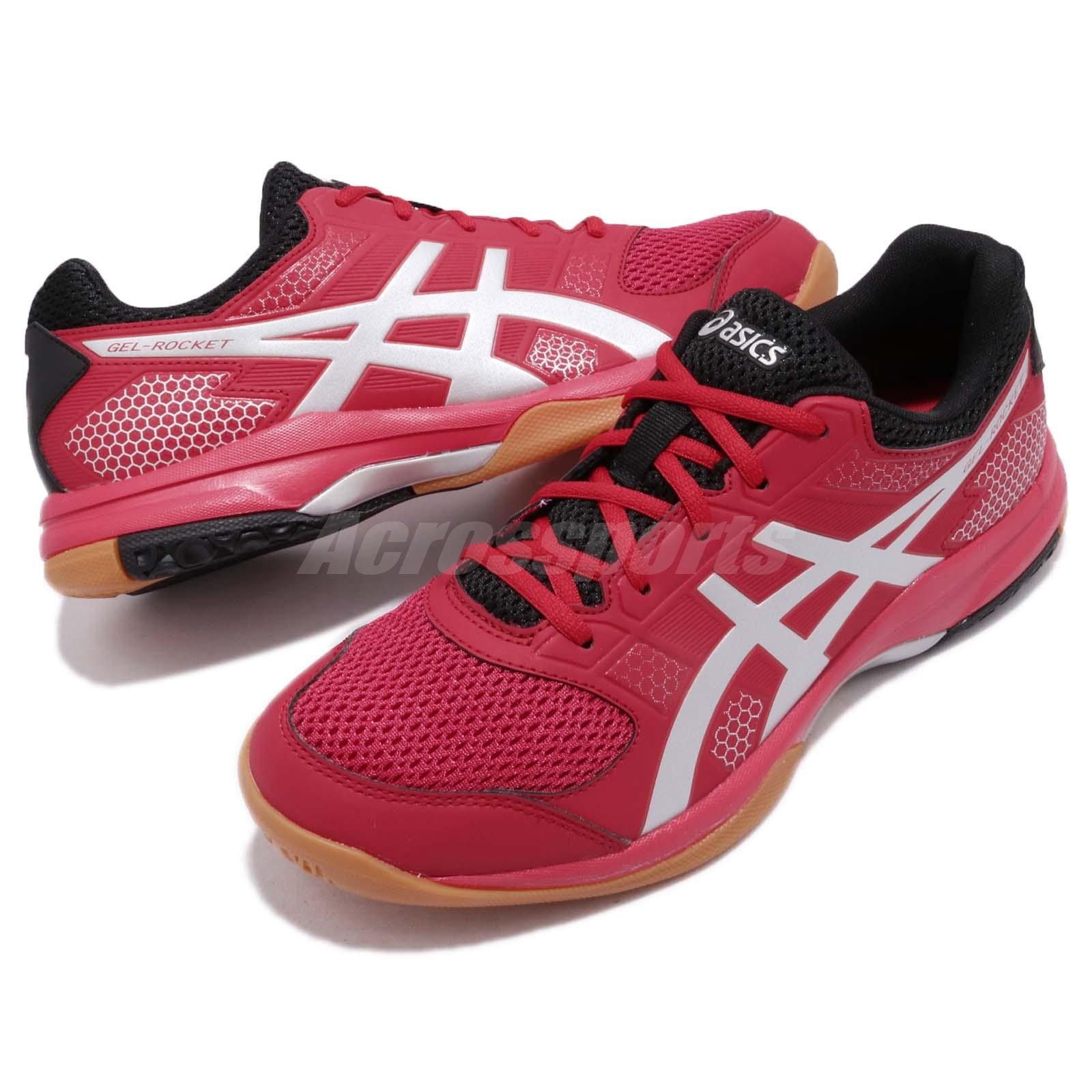 3e5522299d Details about Asics Gel-Rocket 8 Samba Red Silver Gum Men Volleyball  Badminton Shoes B706Y-600
