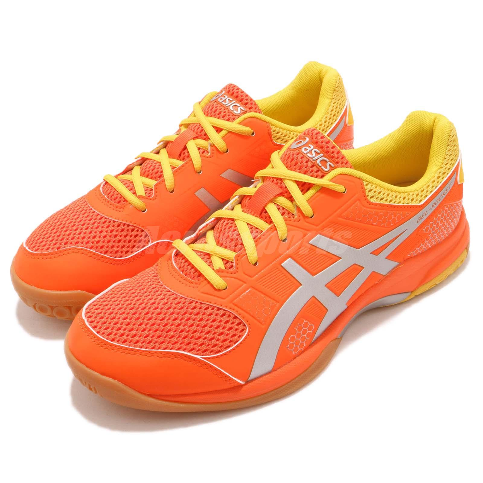 Asics Argent Gel Rocket 8 Koi Orange Argent Asics Gum Hommes Volleyball Badminton 9143fb