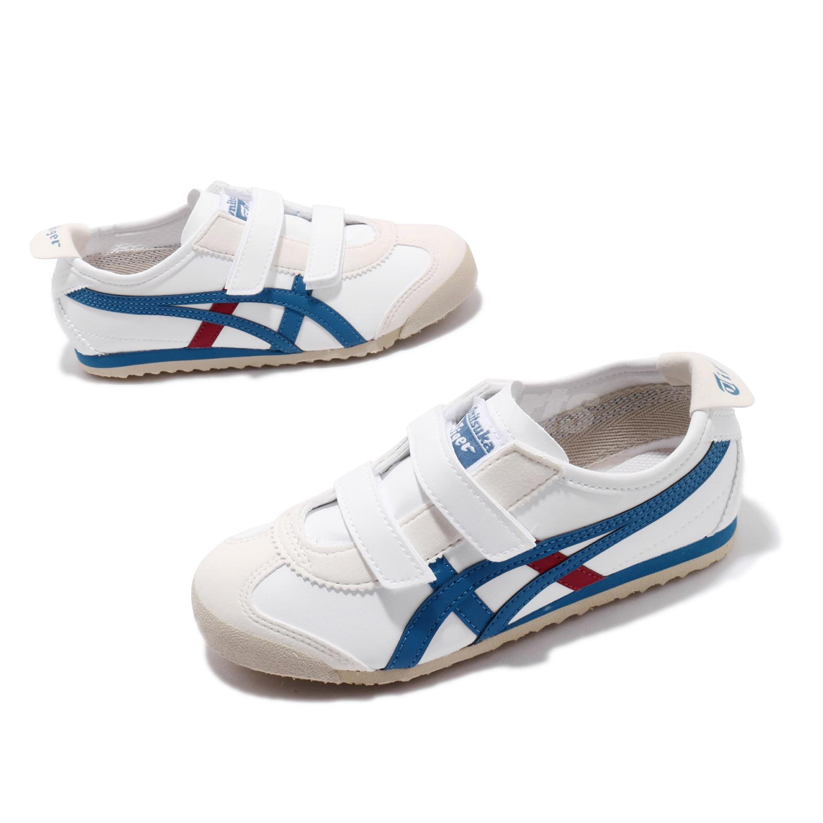 premium selection d815e 1a353 Details about Asics Onitsuka Tiger Mexico 66 Baja PS White Blue Red Kid  Preschool C4D5Y-0143